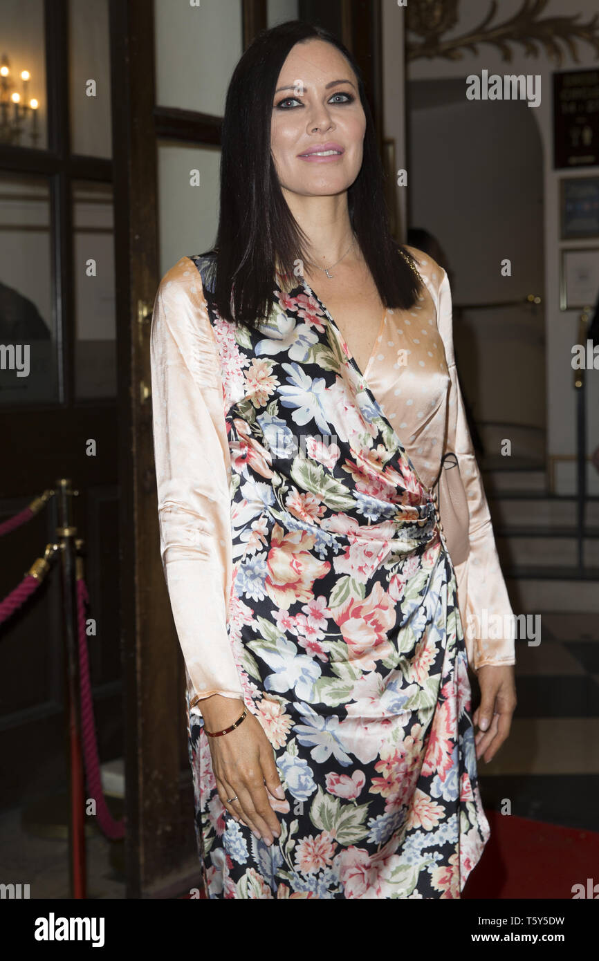 Fiddler on the Roof opening night in the West End  Featuring: Linzi Stoppard Where: London, United Kingdom When: 27 Mar 2019 Credit: Luke Hannaford/WENN - Stock Image