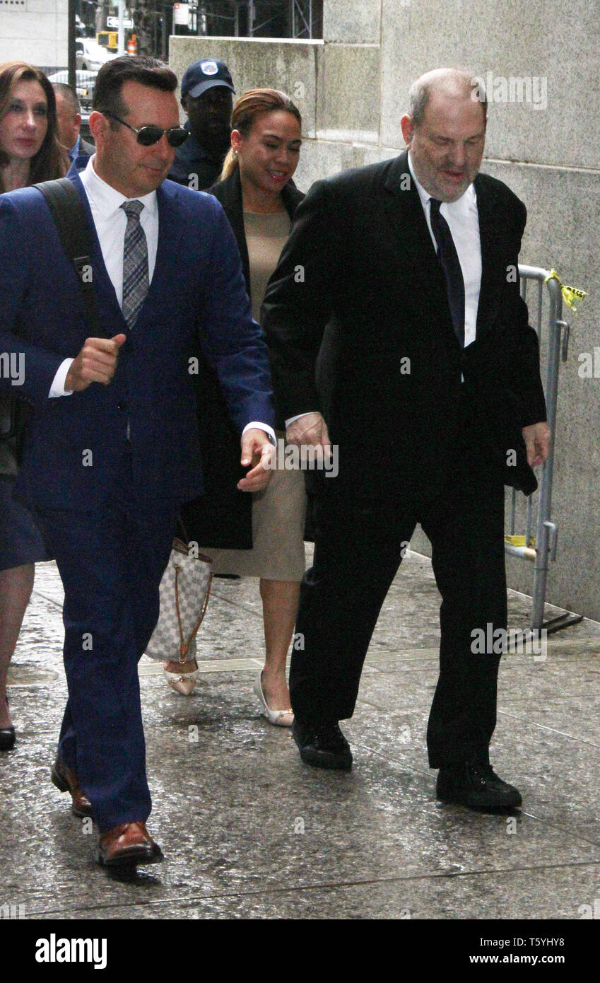 April 25, 2019 Harvey Weinstein arriving to State Supreme Court in New York April 26, 2019 Credit:RW/MediaPunch - Stock Image