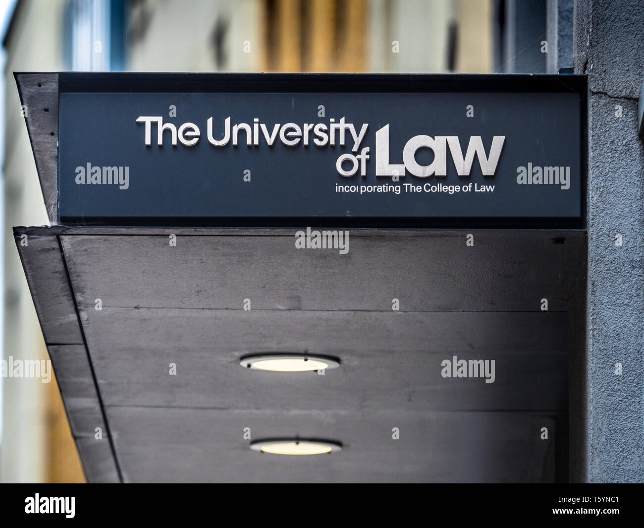 University of Law London - a specialised provider of legal education Founded in 1962 as the College of Law, it is the UK's largest law school. - Stock Image