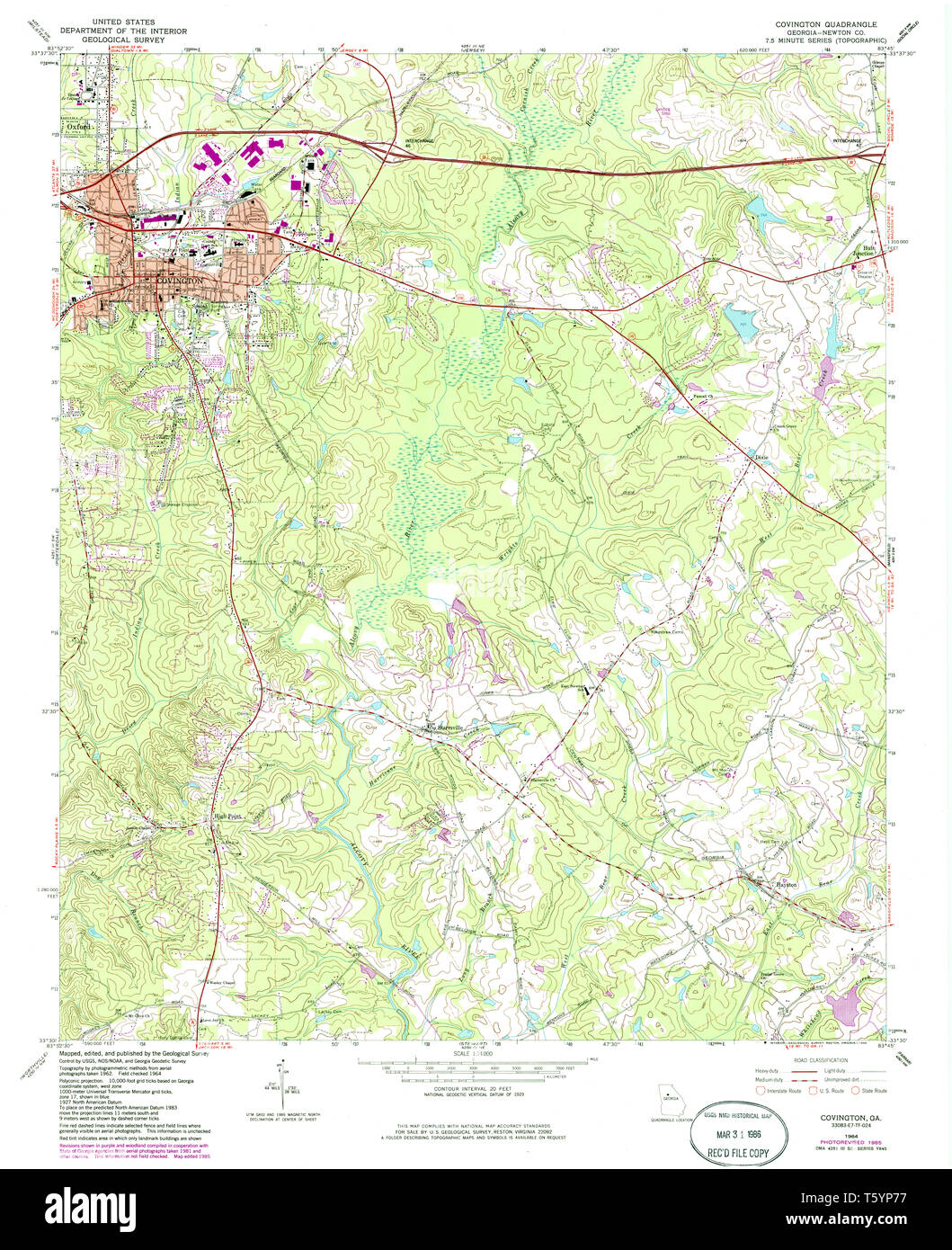 Show A Map Of Georgia.Usgs Topo Map Georgia Ga Covington 245416 1964 24000 Restoration