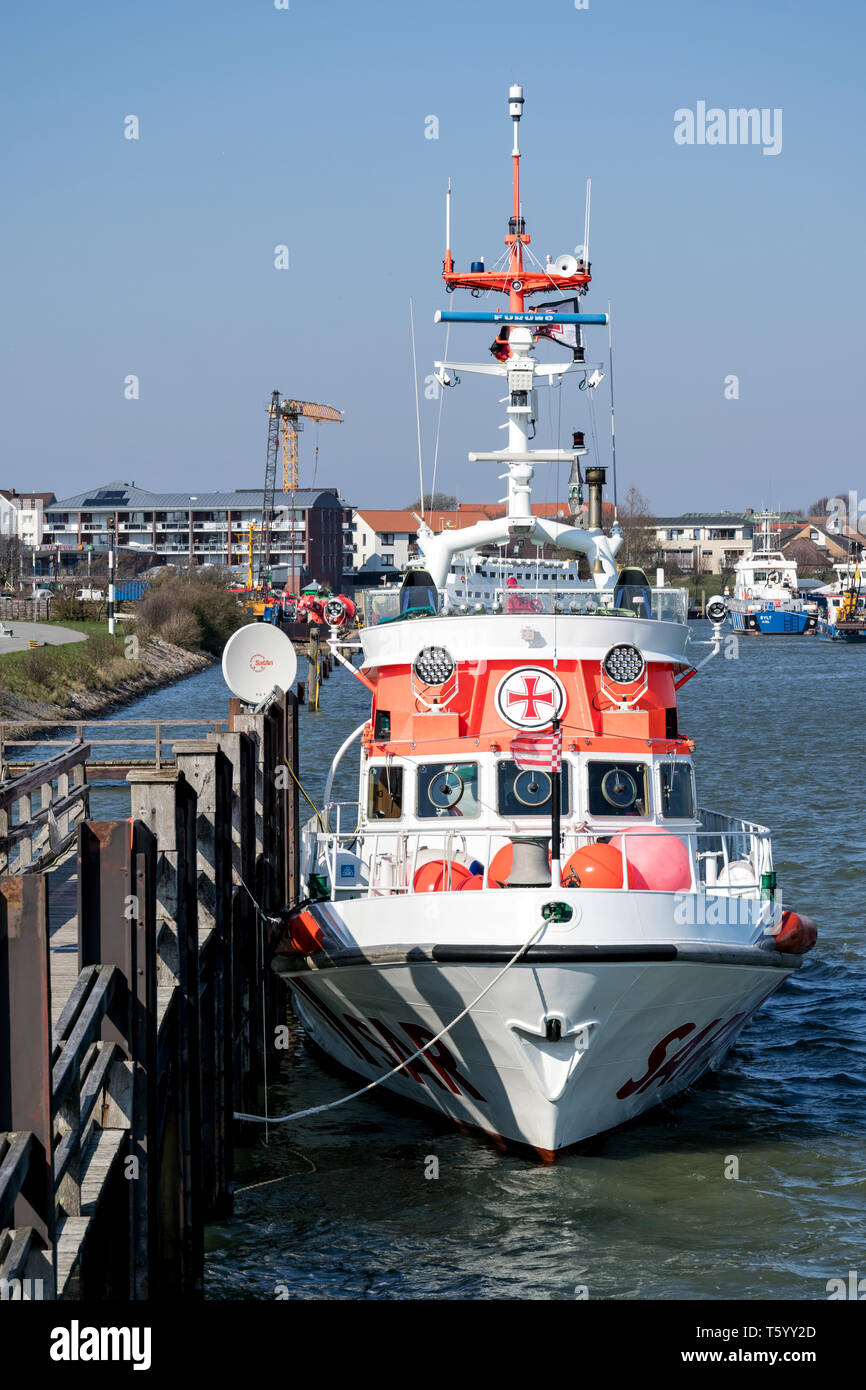 DGzRS SAR cruiser NIS RANDERS. The DGzRS is responsible for Search and Rescue in German territorial waters in the North Sea and the Baltic Sea. - Stock Image