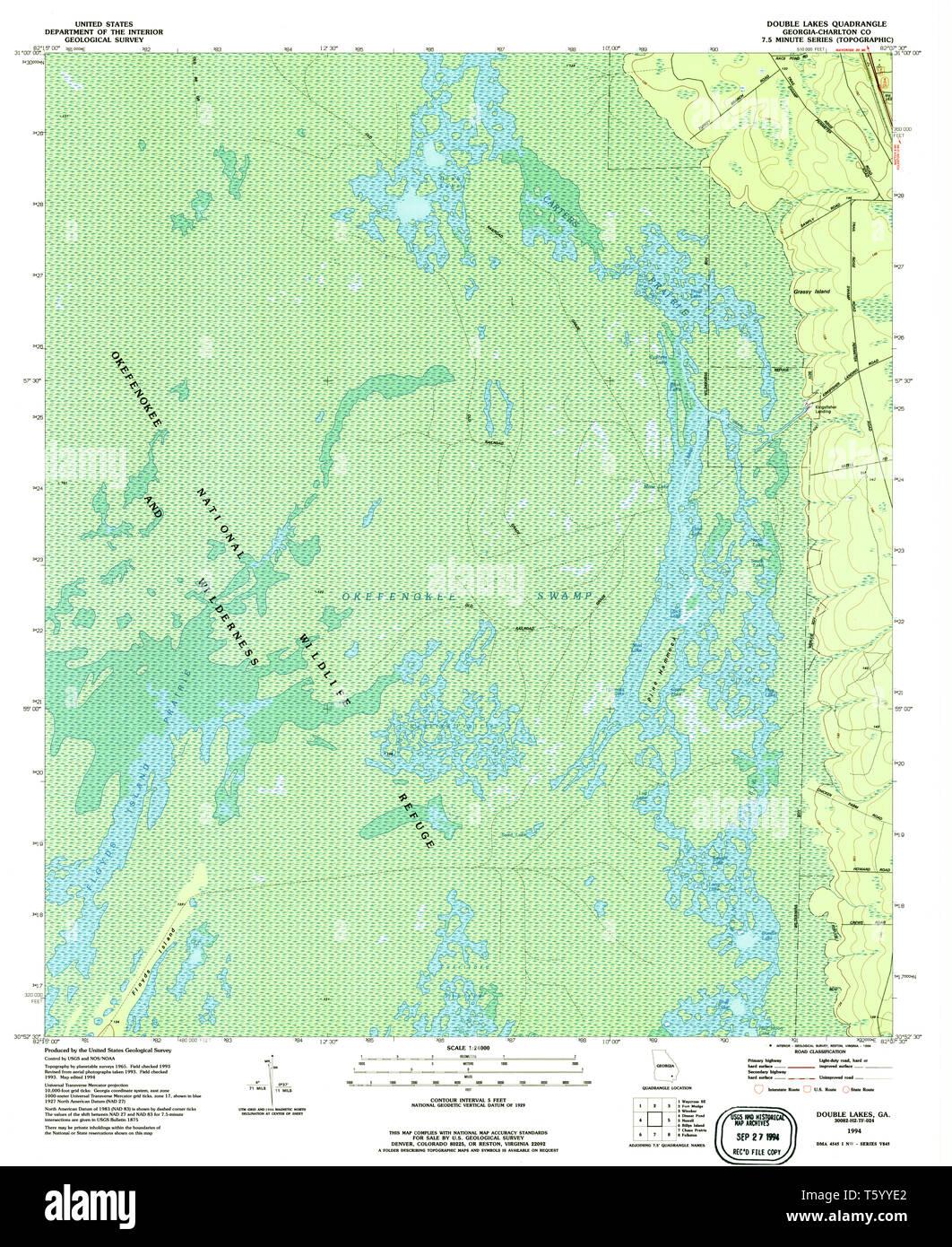 USGS TOPO Map Georgia GA Double Lakes 245568 1994 24000 ... Georgia Lakes Map on georgia rainfall map, georgia climate map, georgia animals map, georgia vegetation map, georgia rain map, georgia historical sites map, bartlett lake az fishing map, lake park ga map, georgia farmland map, georgia land map, georgia river map, georgia map with cities, cobb county ga zip code map, georgia backroads map, georgia counties map, georgia marshes map, georgia settlements map, georgia coast map, brasstown bald georgia on map, georgia mountains map,