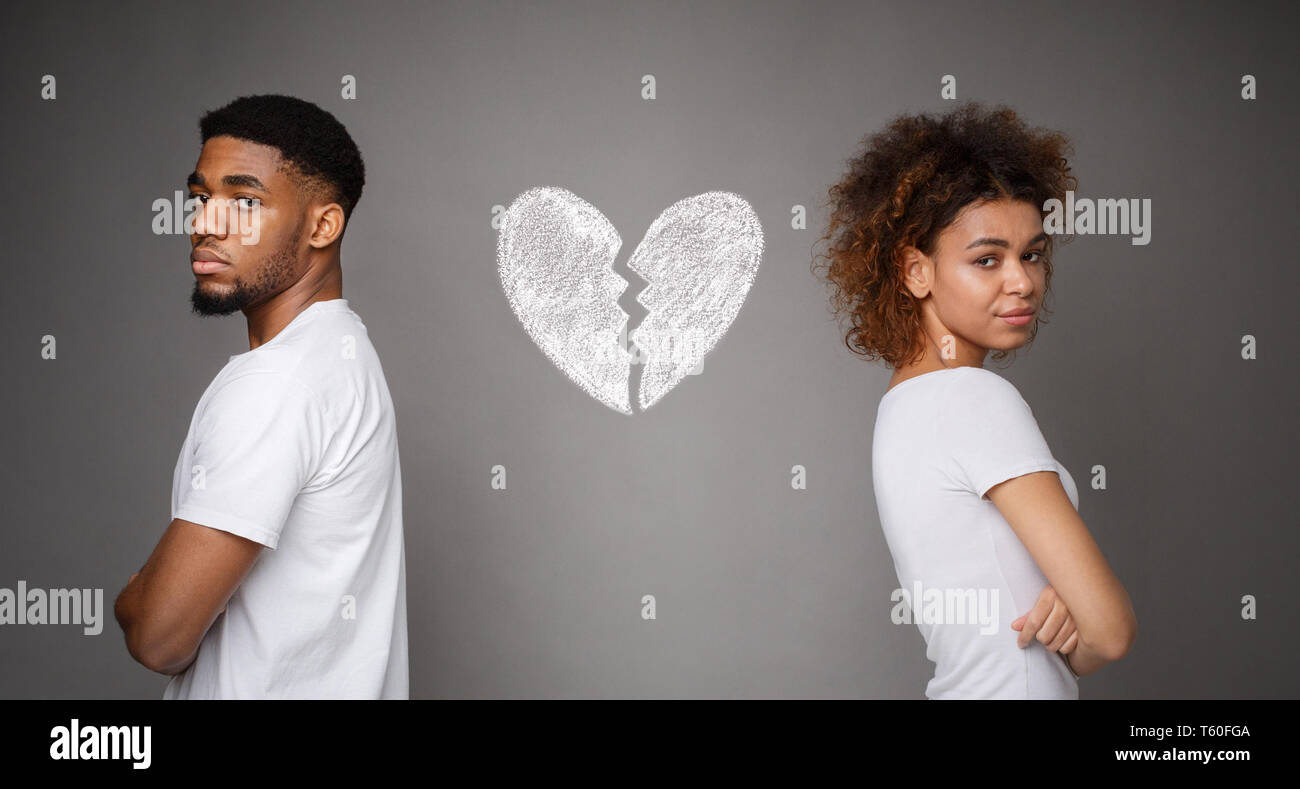 Afro couple in conflict - Stock Image