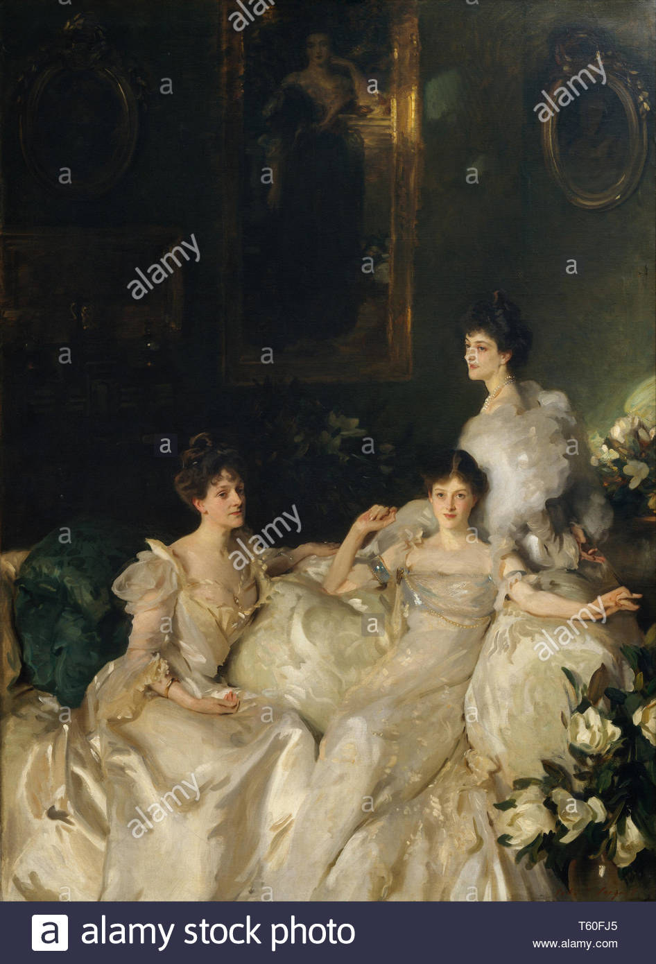 John Singer Sargent-The Wyndham Sisters Lady Elcho, Mrs. Adeane, and Mrs. Tennant - Stock Image