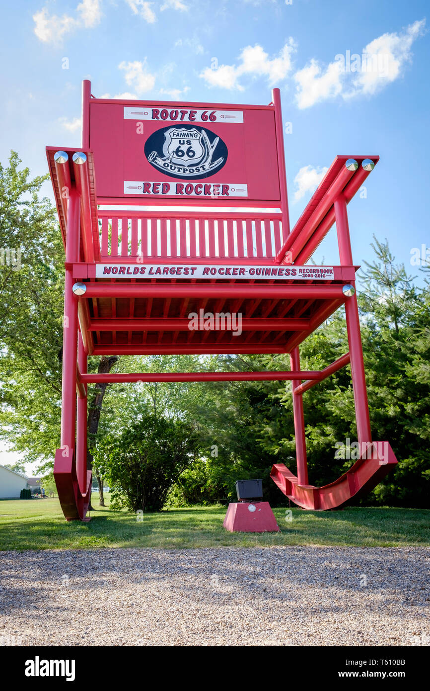 Amazing Route 66 Red Rocker Is The Worlds Largest Rocker It Is Alphanode Cool Chair Designs And Ideas Alphanodeonline