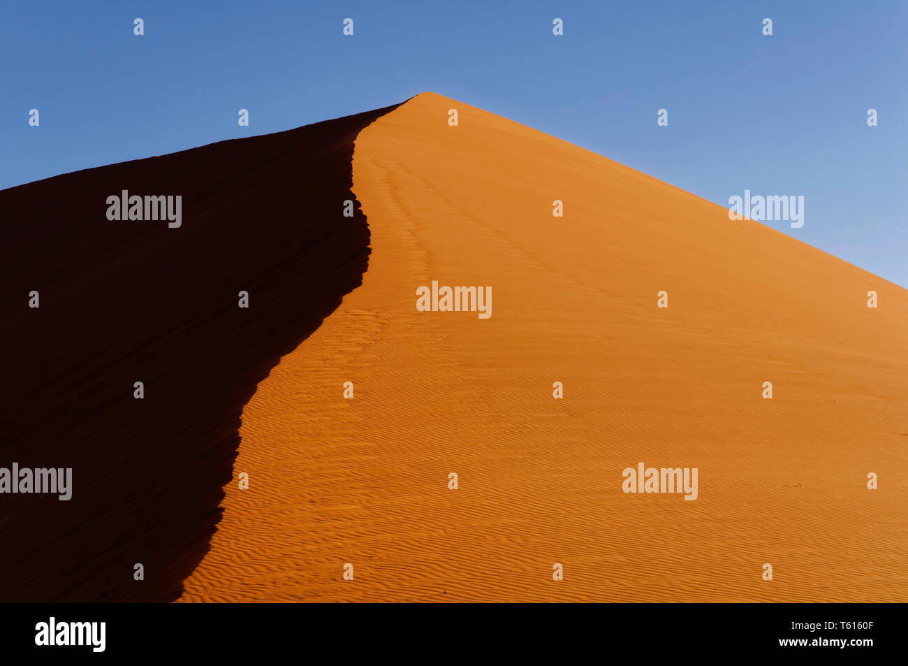 Dune 45 in Sossusvlei area in Namib Desert, Namib-Naukluft-Park District Maltahöhe Namibia Stock Photo