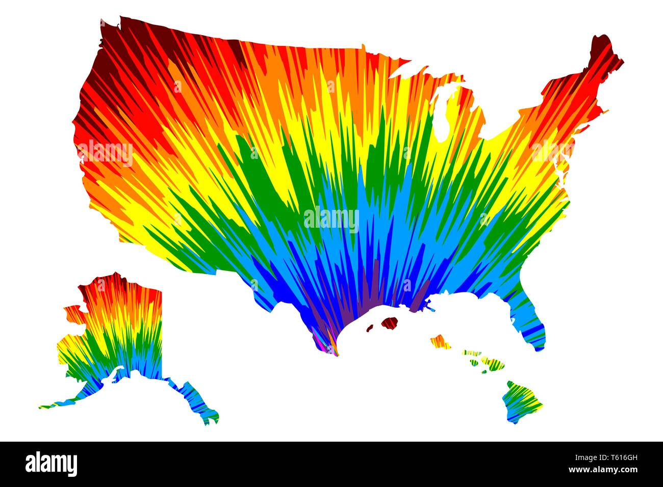 United States of America (USA, U.S., US, United States)- map ...