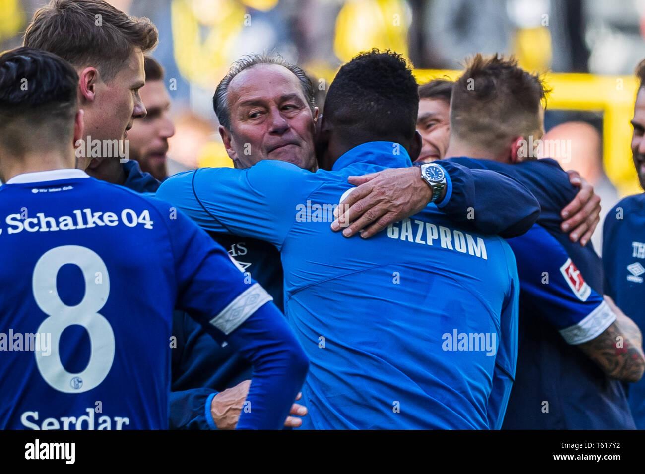 27 april 2019 Dortmund, Germany Soccer German Bundesliga Borussia Dortmund v Schalke 04   Huub Stevens coach (Schalke 04) - Stock Image