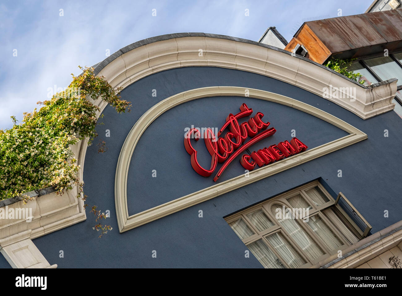 NOTTING HILL, LONDON:  Sign above the Electric Cinema - Stock Image