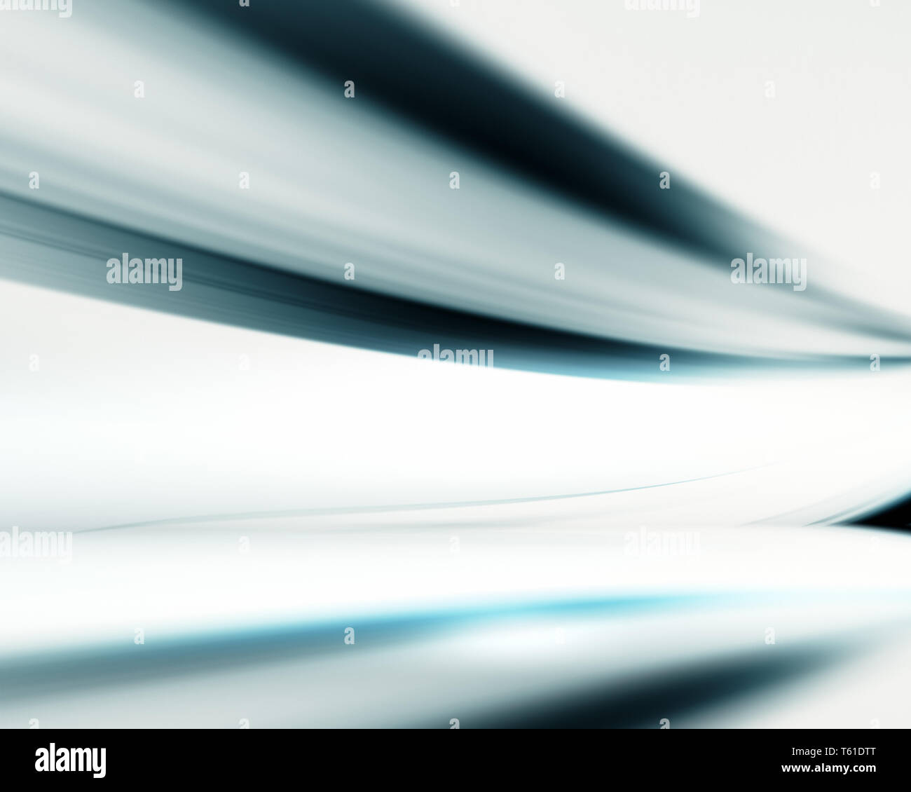 Room reflections motion blur futuristic background - Stock Image