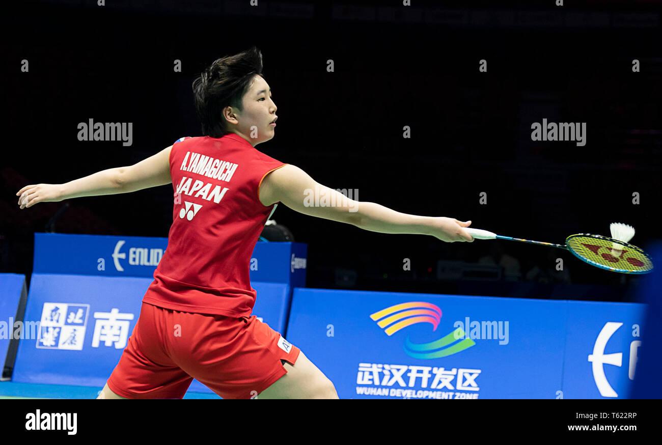 Wuhan, China  28th Apr, 2019  Akane Yamaguchi of Japan