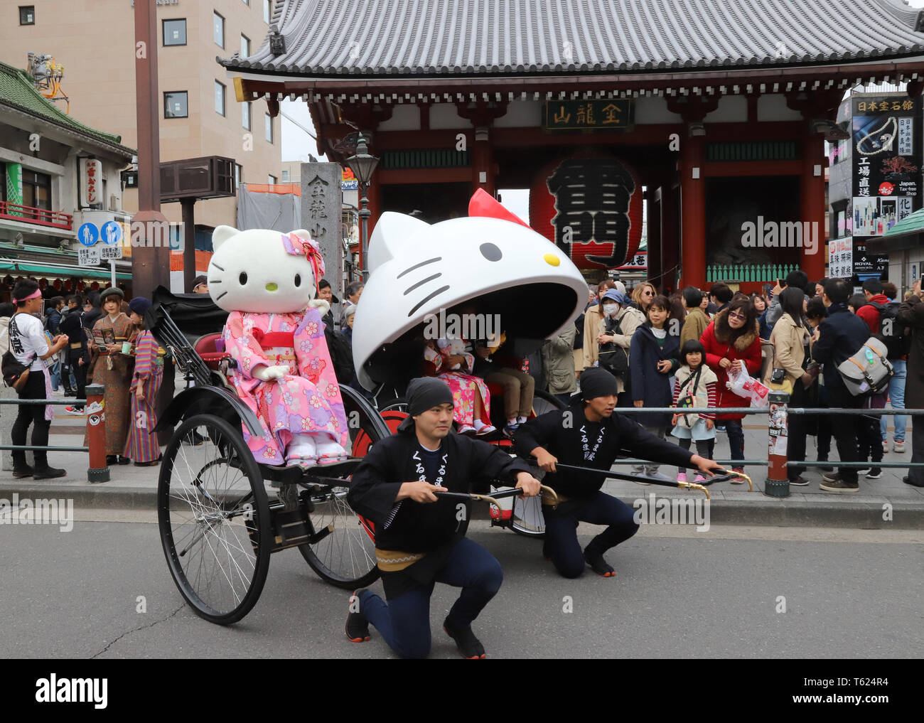 78debe849 tokyo-japan-27th-apr-2019-japanese-character-giant-sanrios-hello-kitty -in-kimono-dress-rides-a-rickshaw-at-asakusa-district-as-sanrio-opens-a-new- shop- ...