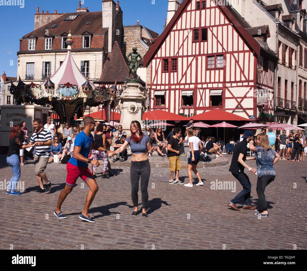 The Picturesque city of Dijon in the Burgundy region of France - Stock Image
