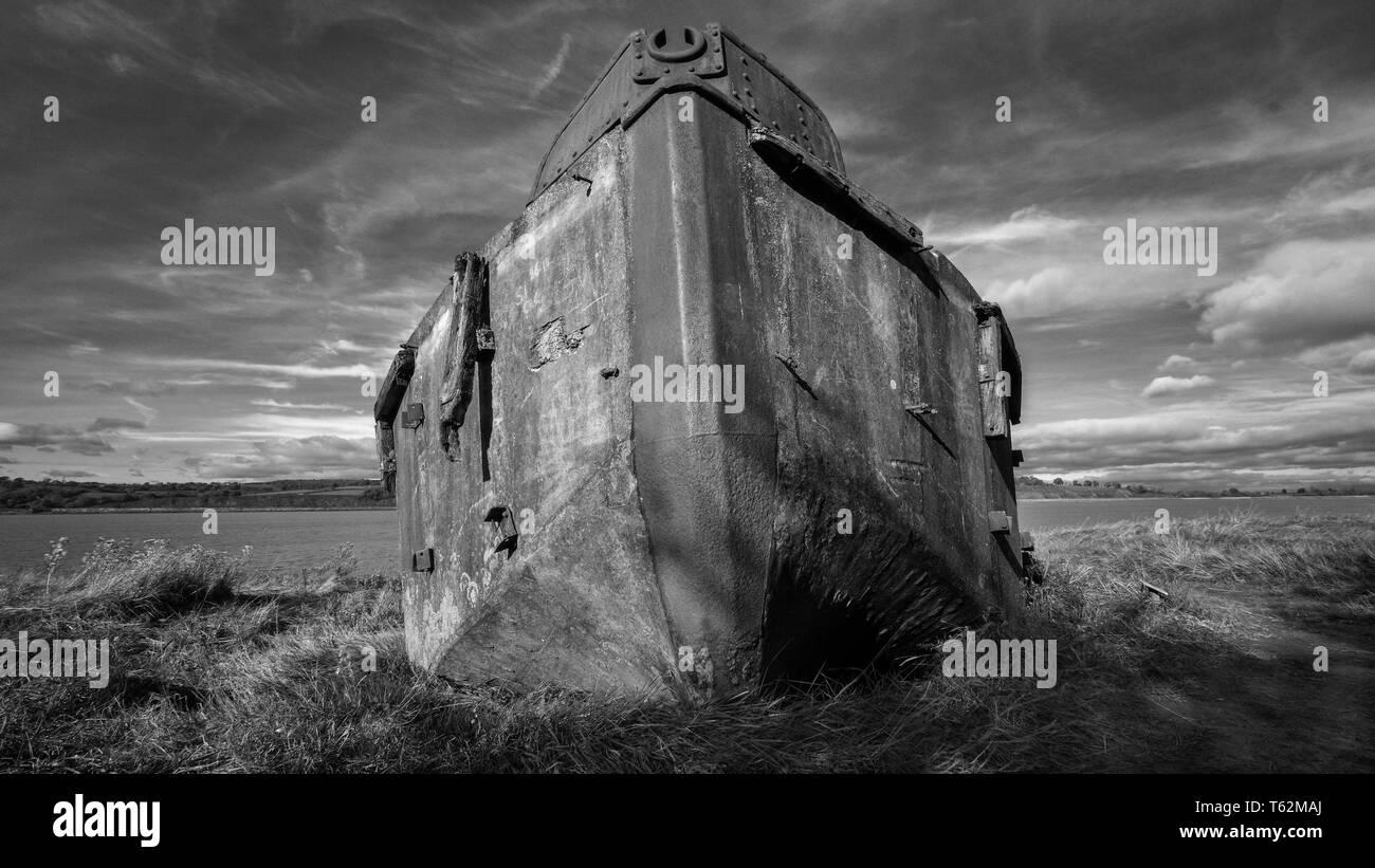 Barge graveyard, Purton, Gloucestershire. UK.     beached barges in Purton, Gloucestershire. - Stock Image