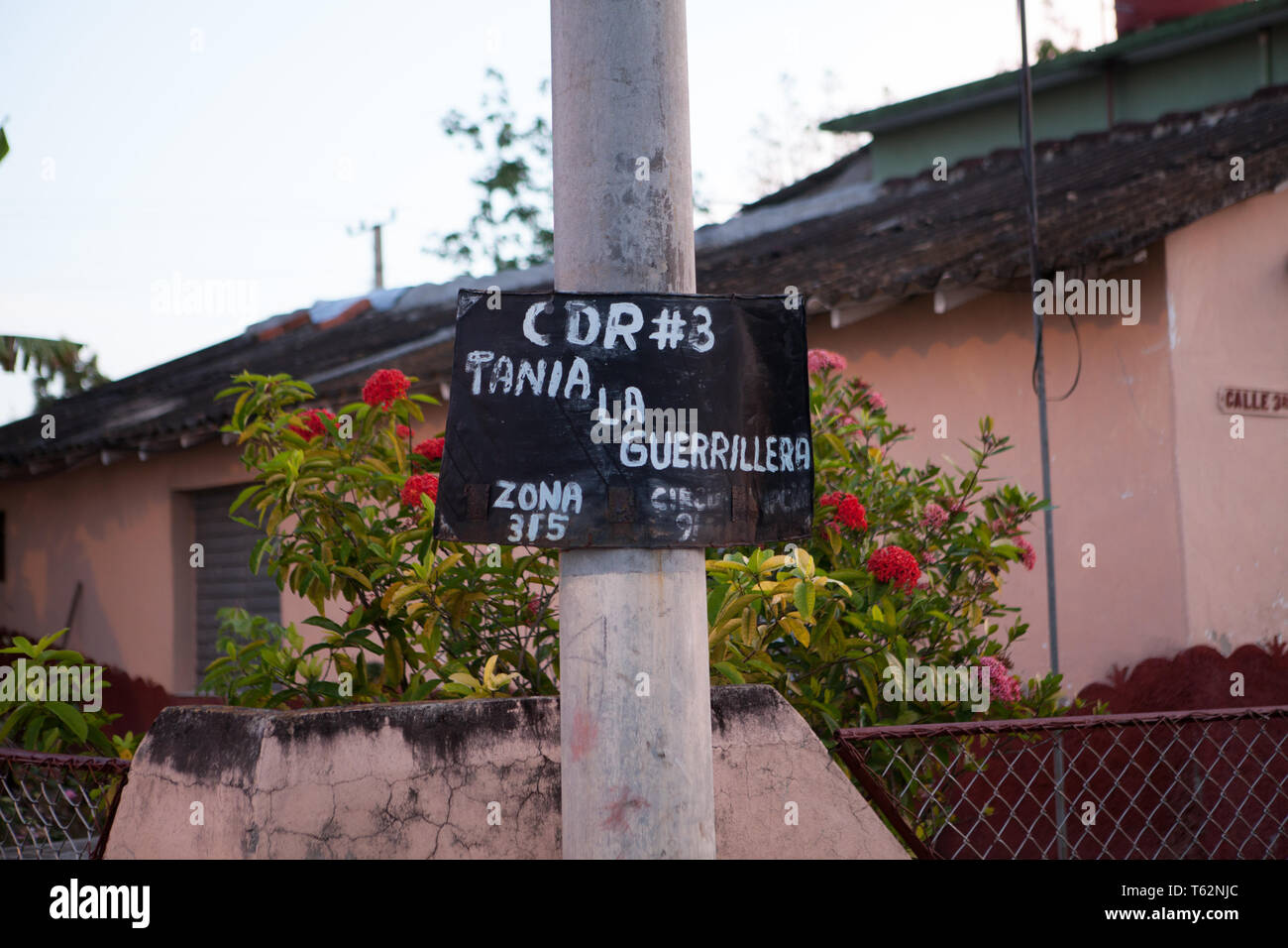 Committees for the Defense of the Revolution, or CDR, are a network of neighborhood committees across Cuba. The organizations, described as the 'eyes. - Stock Image
