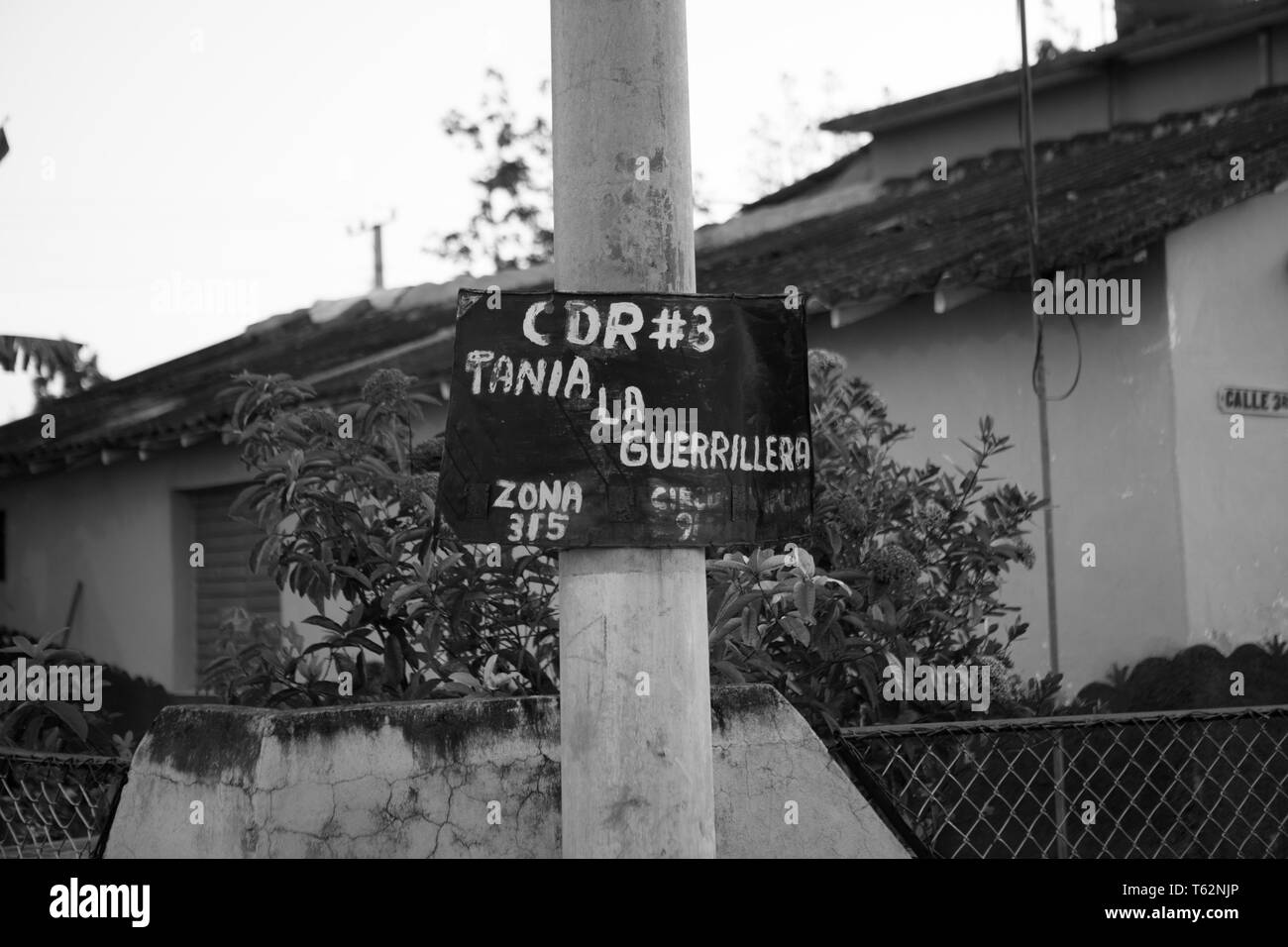Committees for the Defense of the Revolution, or CDR, are a network of neighborhood committees across Cuba. The organizations, described as the 'eyes - Stock Image