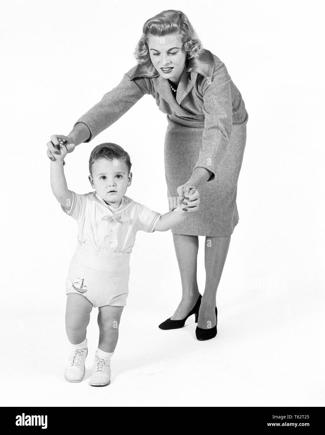 Woman And Baby 1950s Stock Photos Woman And Baby 1950s Stock