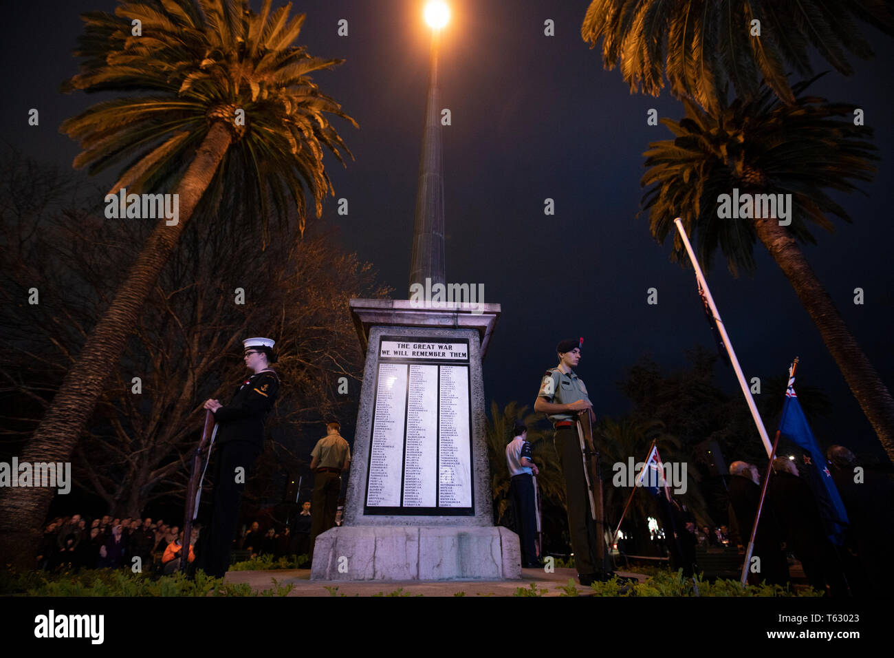 Picture by Tim Cuff - 25 April 2019 - ANZAC Day services, Nelson, New Zealand Stock Photo
