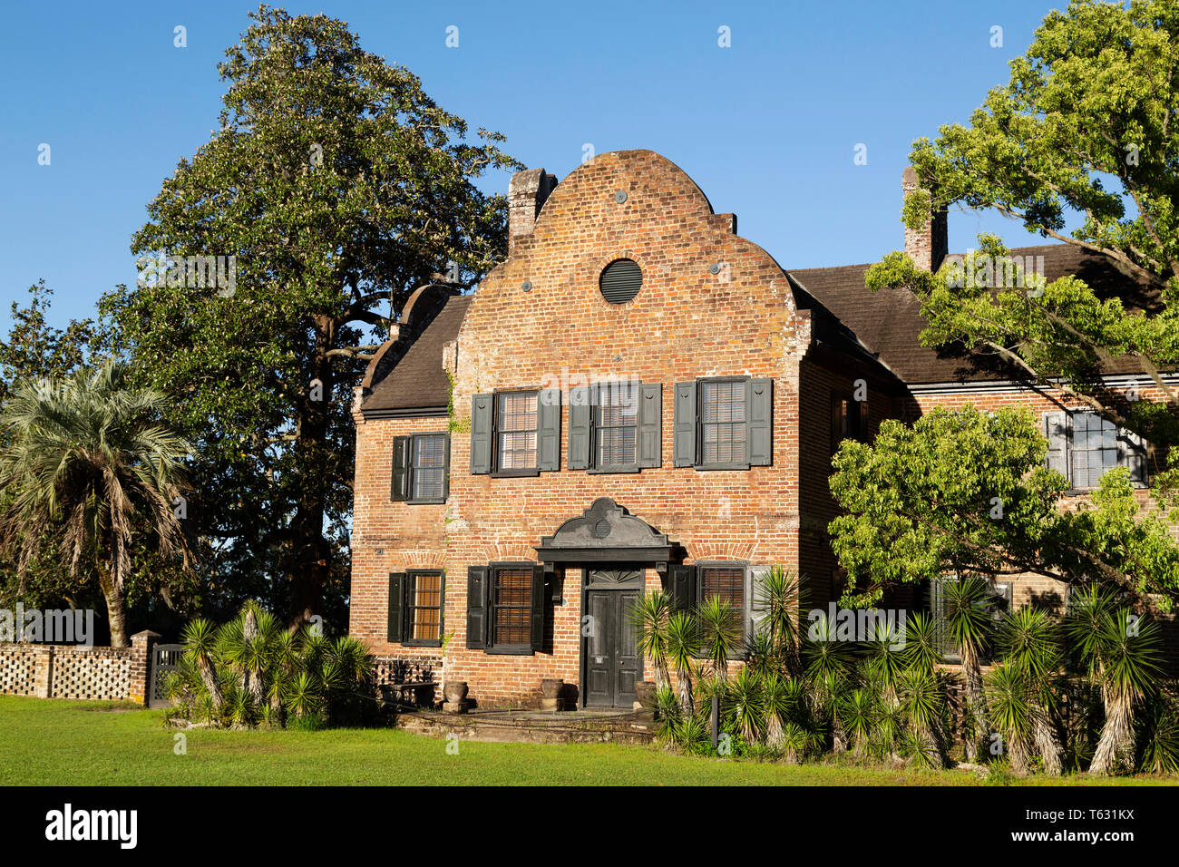 The House at Middleton PLace in Charleston, South Carolina, USA. The house (South Flanker) houses a museum. - Stock Image