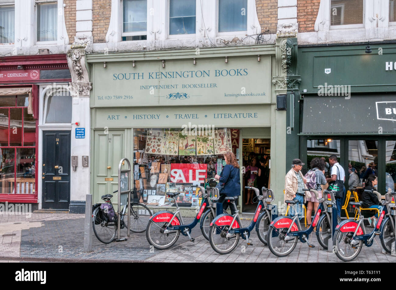 South Kensington Books, an independent bookseller. - Stock Image