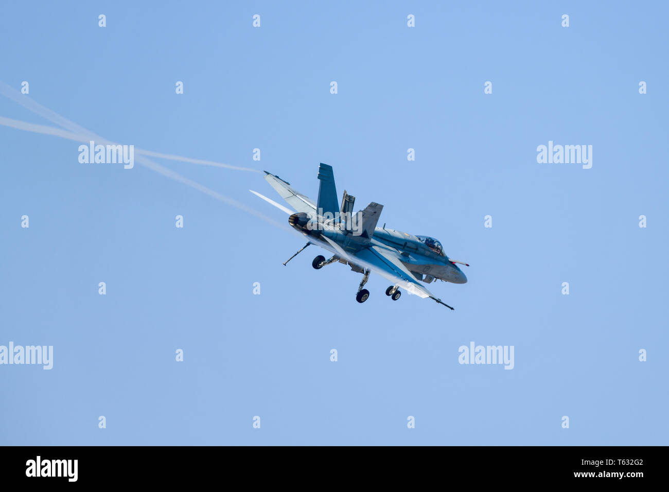 McDonnell Douglas F/A-18 Hornet Fighter Jet - RAAF Royal Australian Airforce - Stock Image