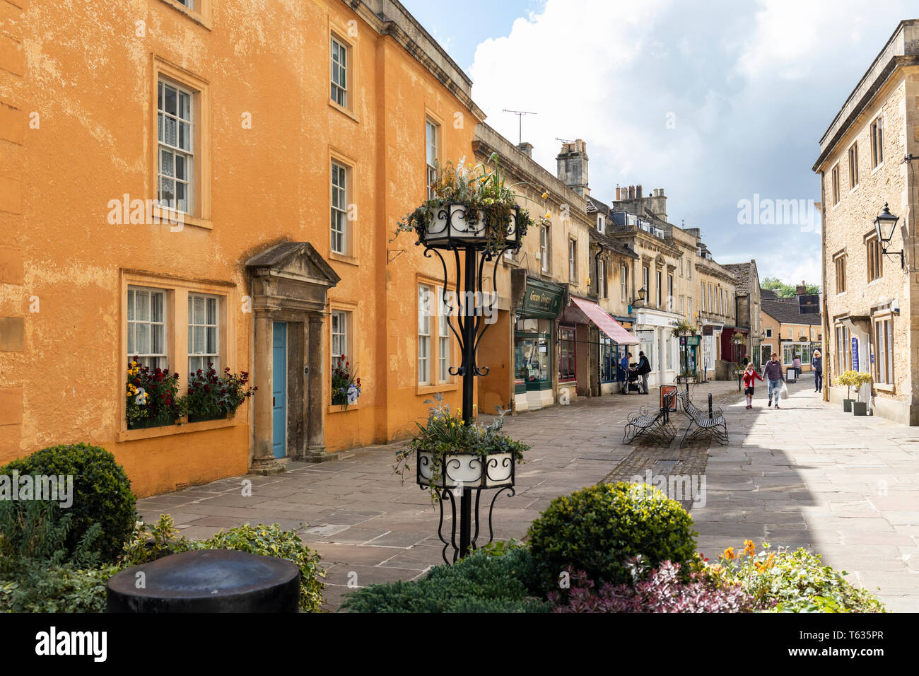 The High Street in Corsham, Wiltshire, England, UK Stock Photo