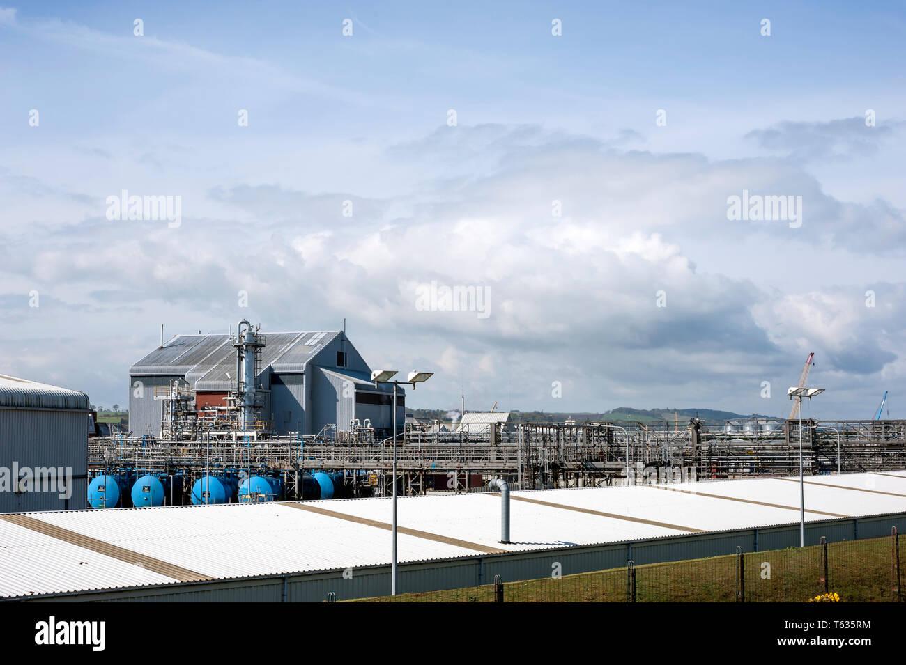 GlaxoSmithKline manufacturing plant, Montrose, Angus, Scotland, uk. - Stock Image