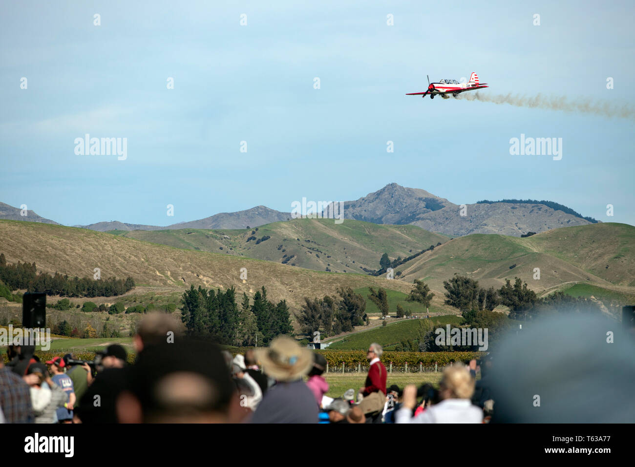 Picture by Tim Cuff - 20 April 2019 - Omaka Air Show, Blenheim, New Zealand Stock Photo