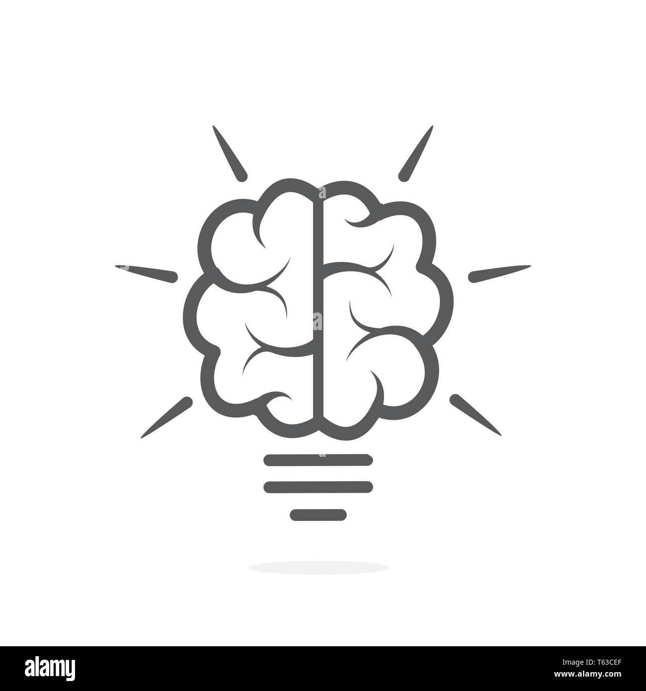 Knowledge icon on white background - Stock Image