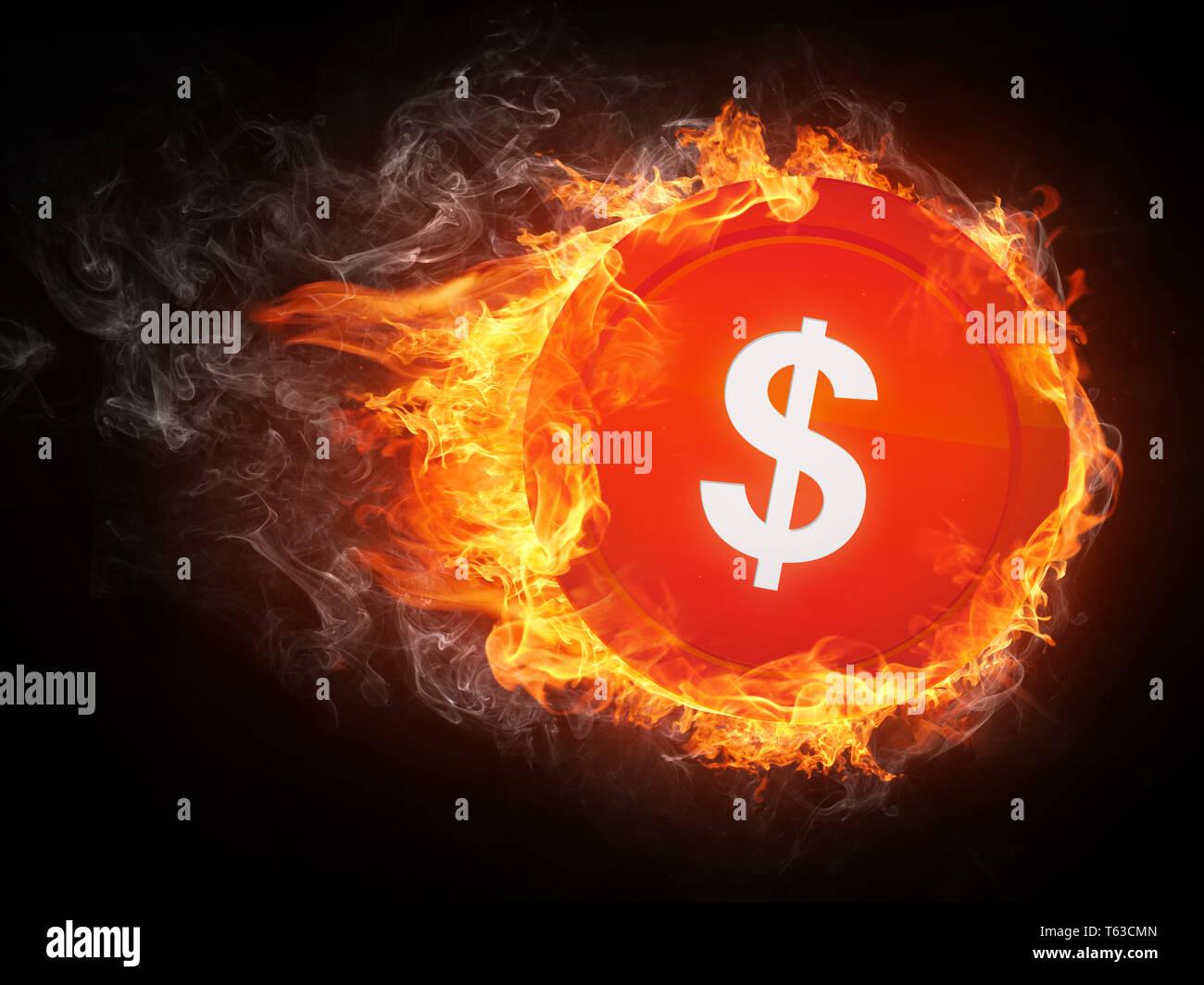 Sign Dollar Stock Photo