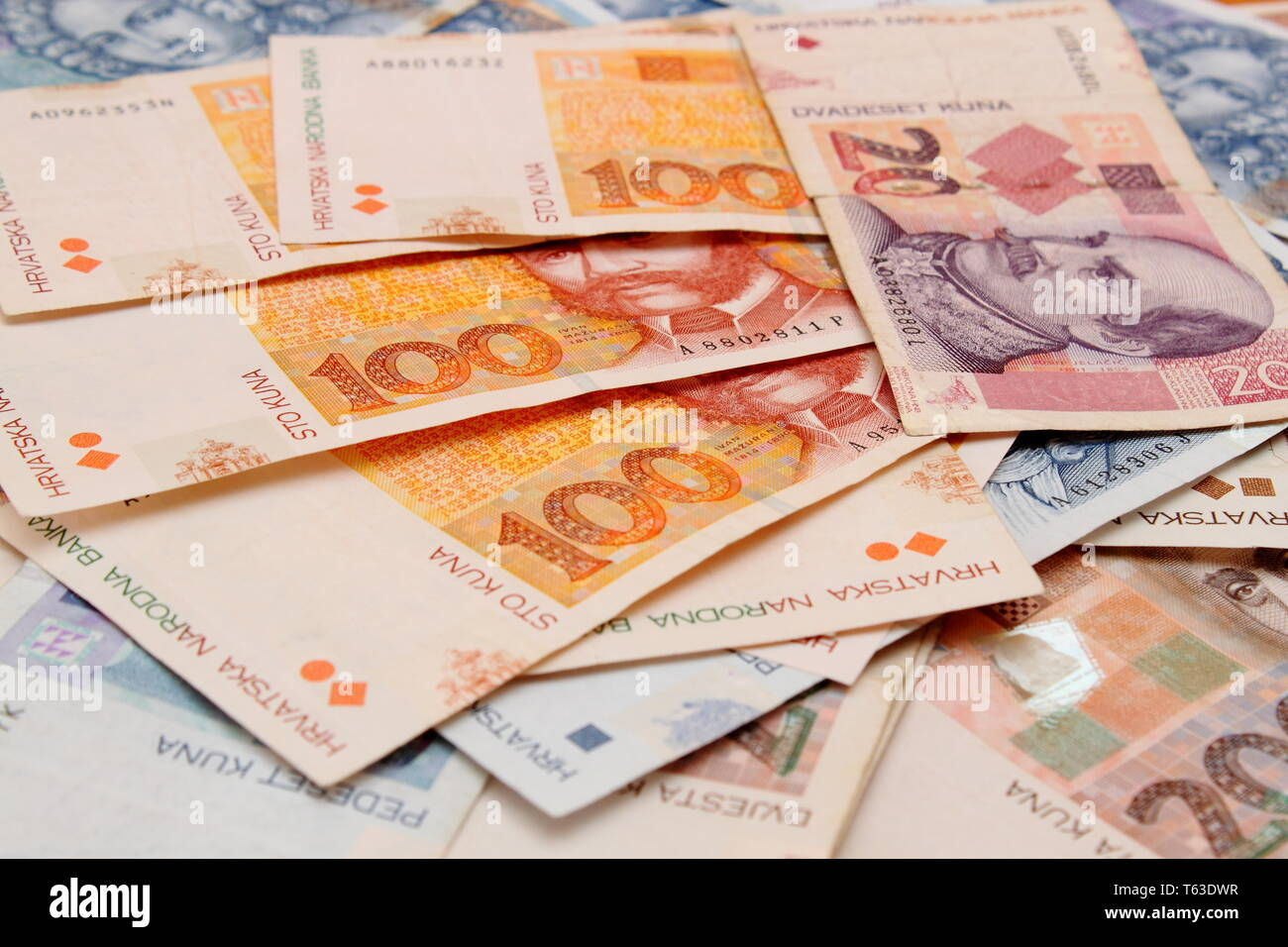 Croatian Kuna Banknotes Stock Photos Croatian Kuna