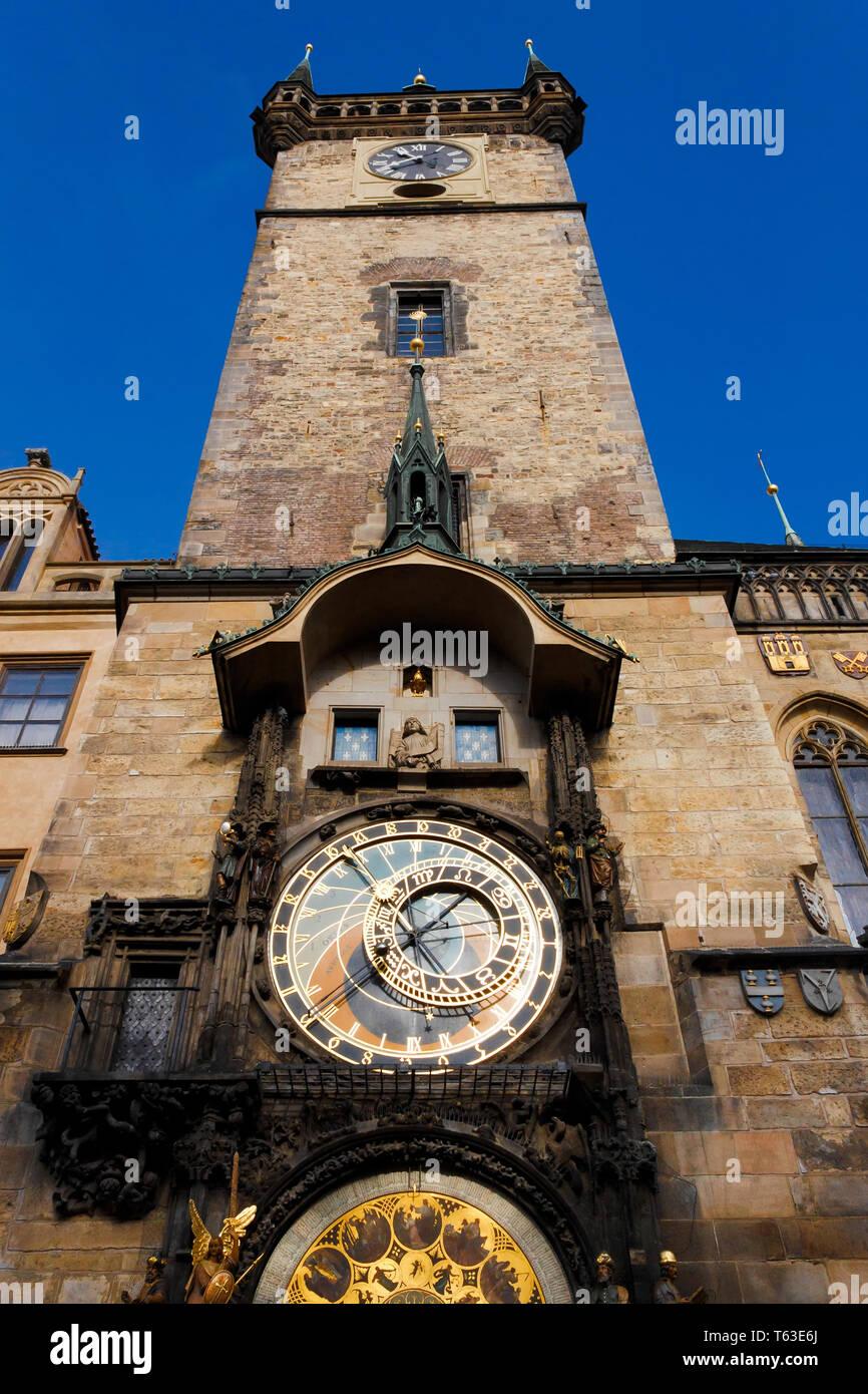 Fascinating Prague Astronomical Clock -Prague Orloj - Stock Image