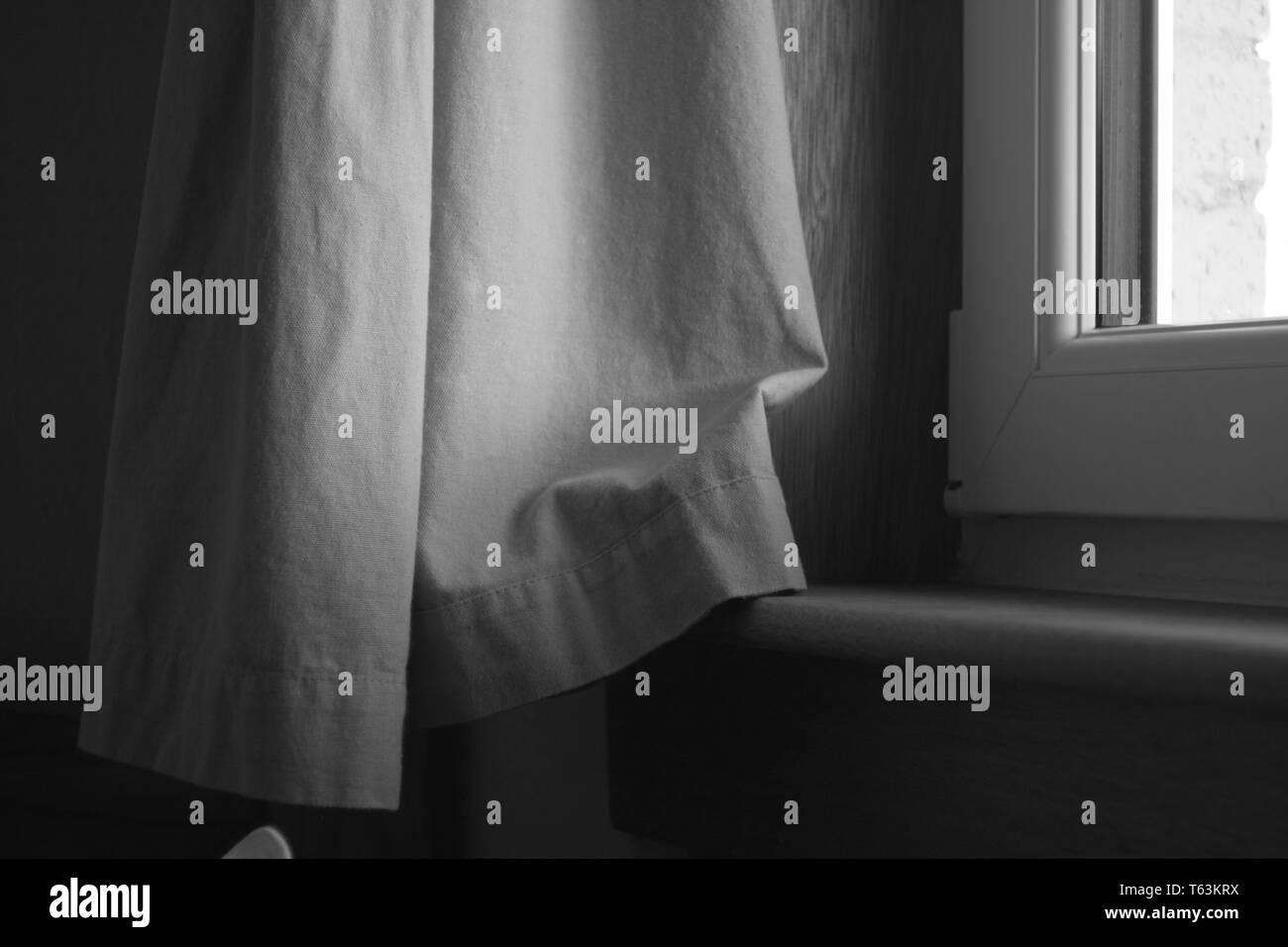 Window Ledge, Atmospheric w/ Window - Stock Image