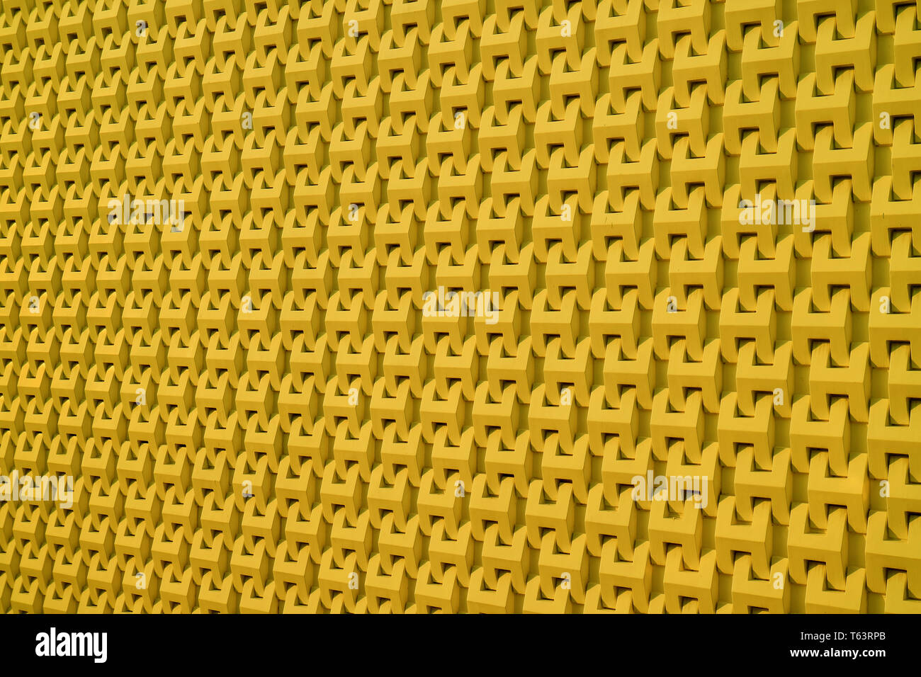 Decorative 3D pattern of the modern building outer wall in