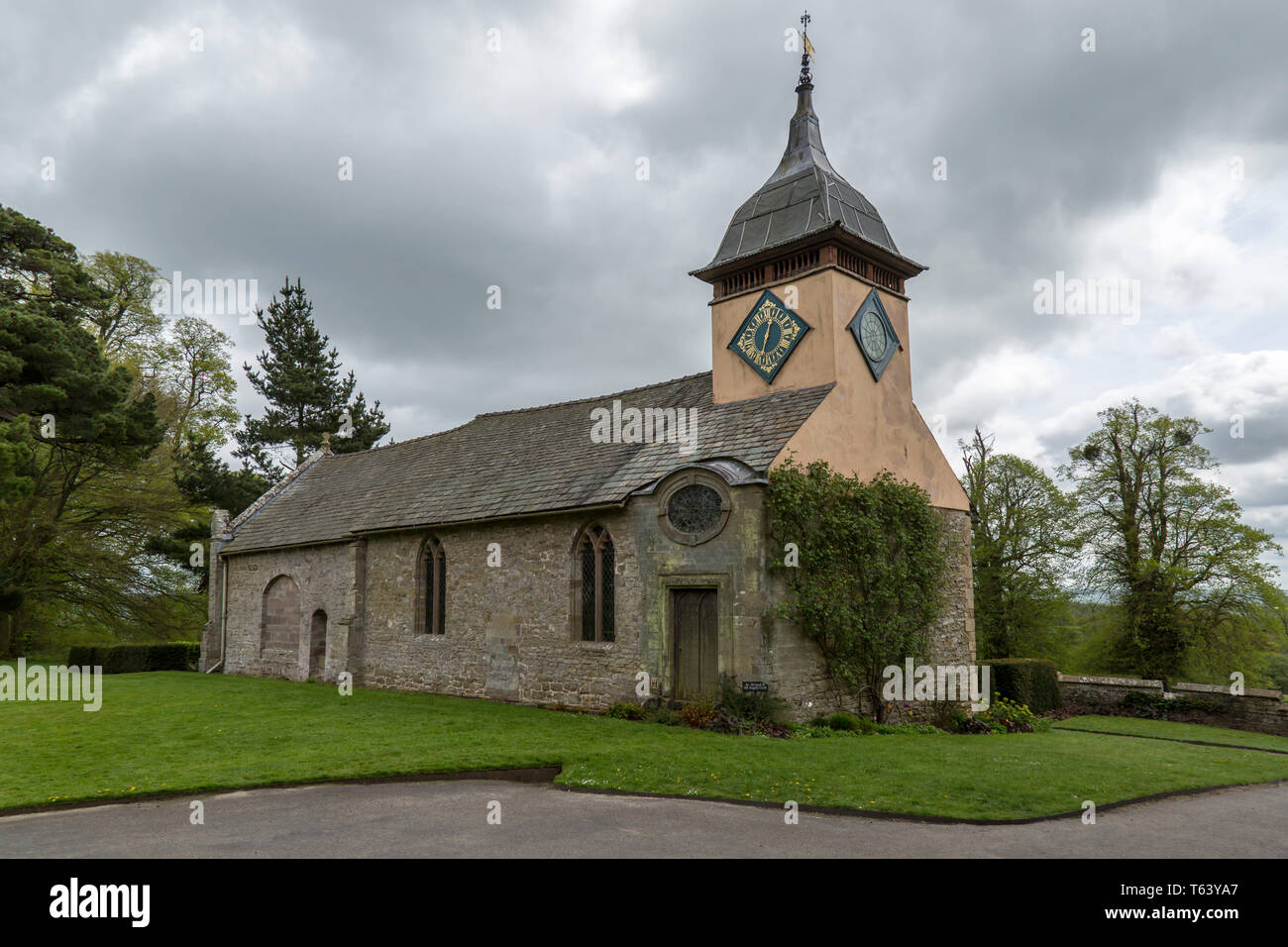 The 13th Century Chapel at Croft Castle in Yarpole, Herefordshire, England. - Stock Image
