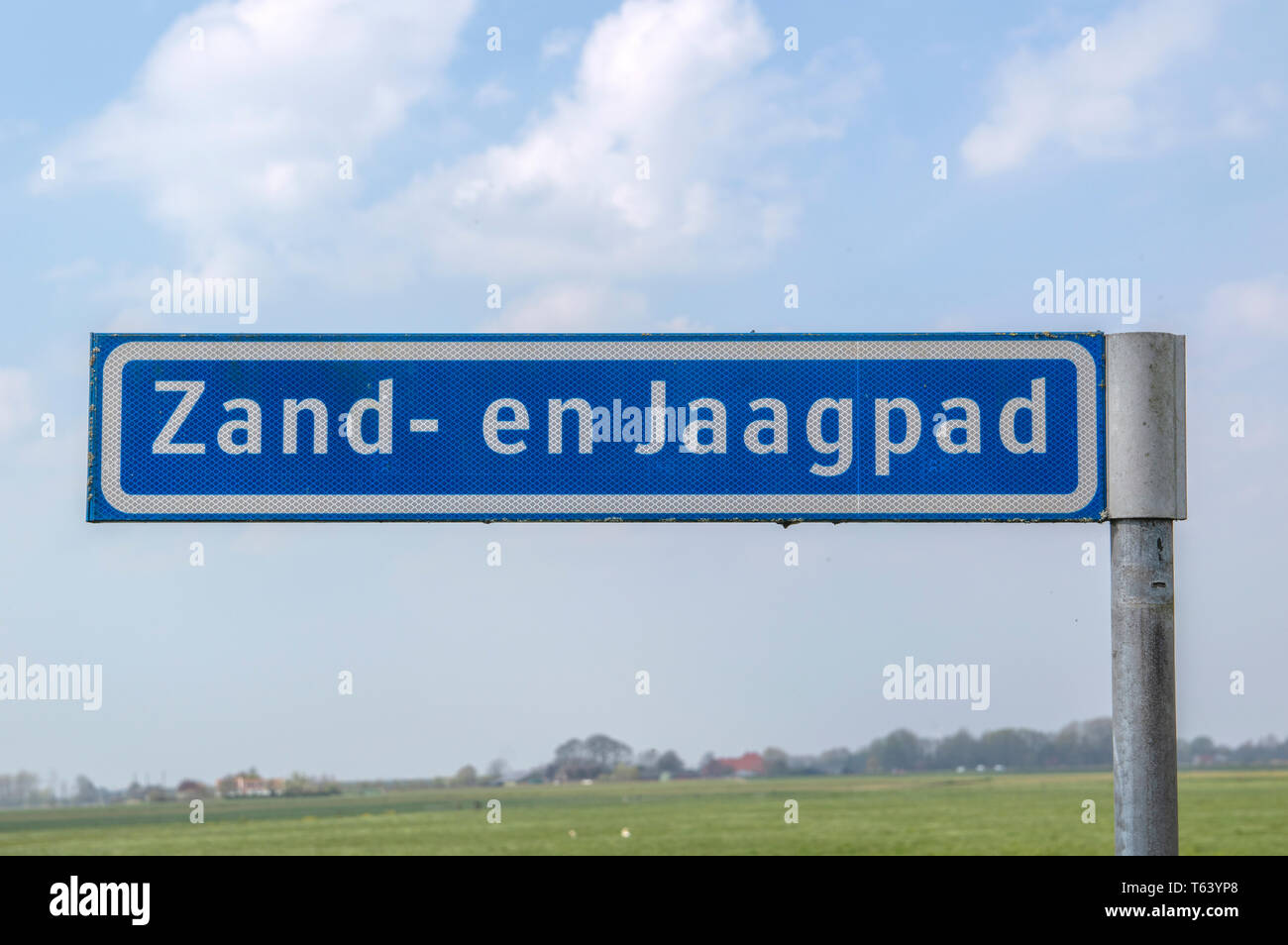 Street Sign Zaad- En Jaagpad At Baambrugge The Netherlands 2019 - Stock Image