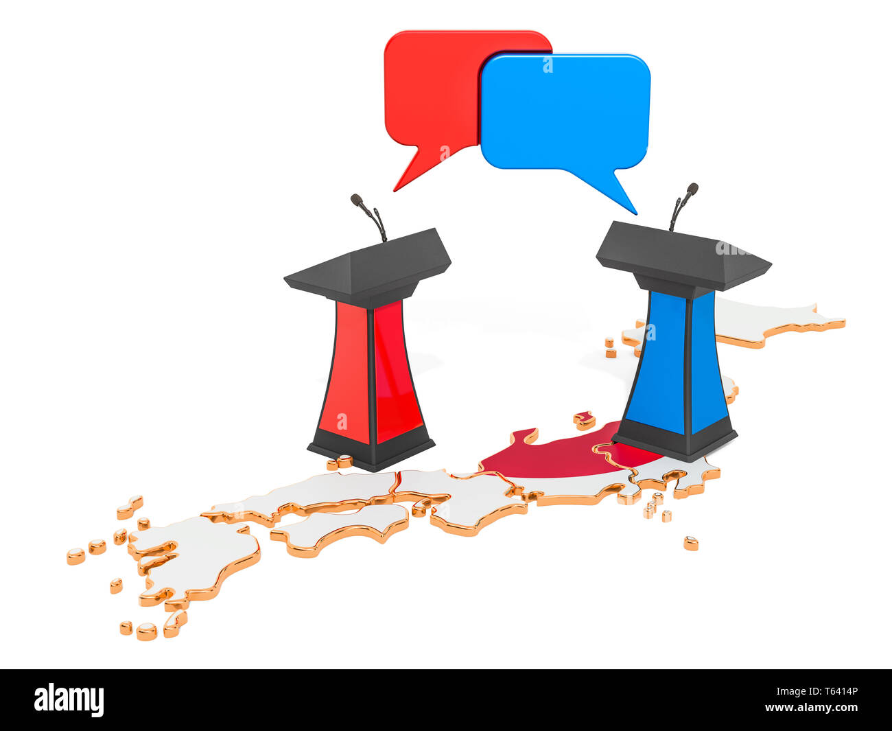 Japanese Debate concept, 3D rendering isolated on white background Stock Photo