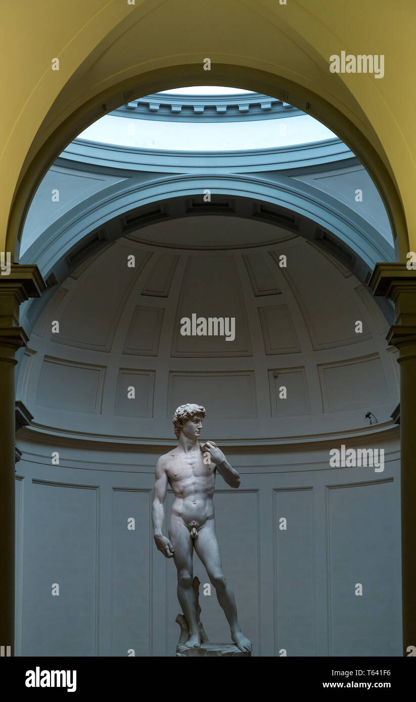 Museum of Academy, and Michelangelo ´s David. Florence, Italy - Stock Image