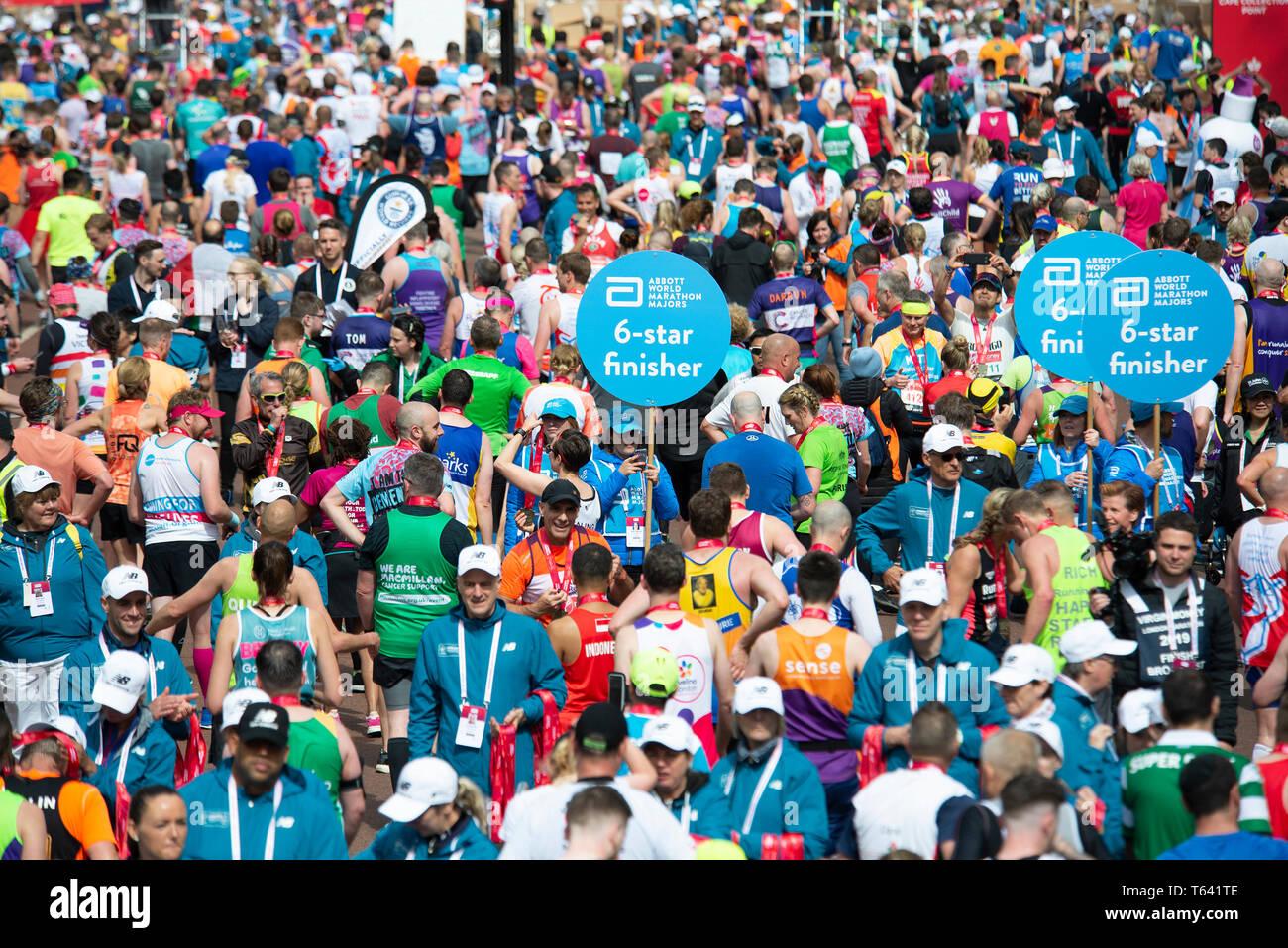 London, UK. 28th April 2019 Virgin Money London Marathon. Credit: A.Bennett Stock Photo