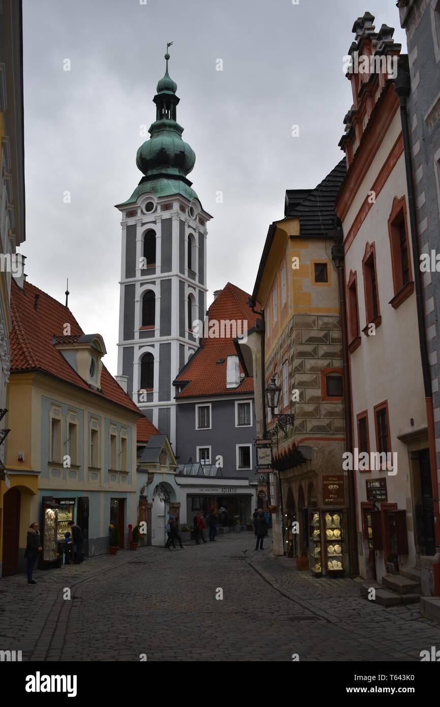 Kresty Krumlov Czech Republic March 18, 2017 Travel Czech Rep Best 10 Top 10 Travel More Czech Rep Beautiful Scenery History Historical Travel Europe Stock Photo