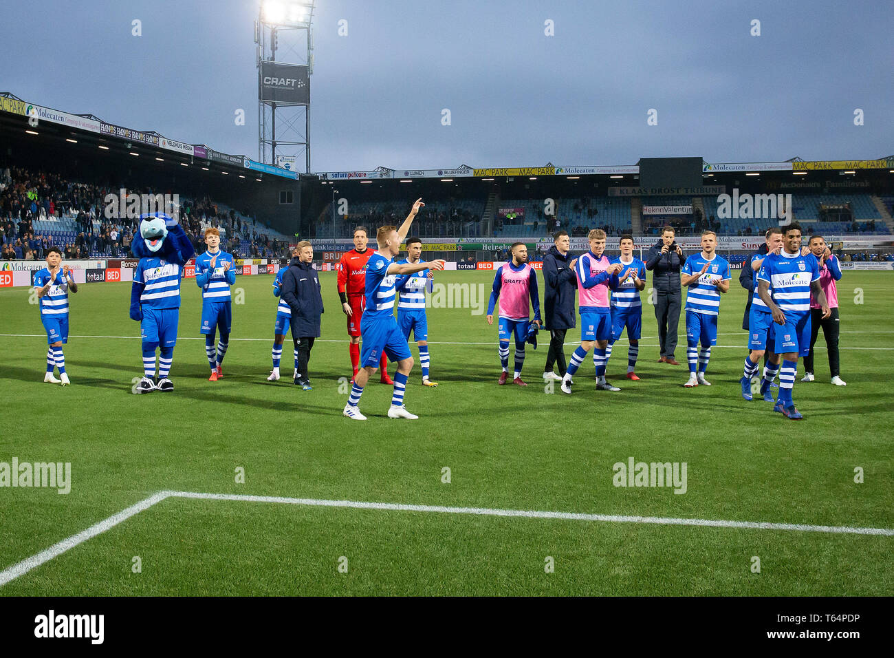 Zwolle 29 04 2019 Mac3park Stadium Season 2018 2019 Dutch Eredivisie Pec Zwolle Celebrating The 3 2 Win During The Match Pec Zwolle Fc Groningen Stock Photo Alamy