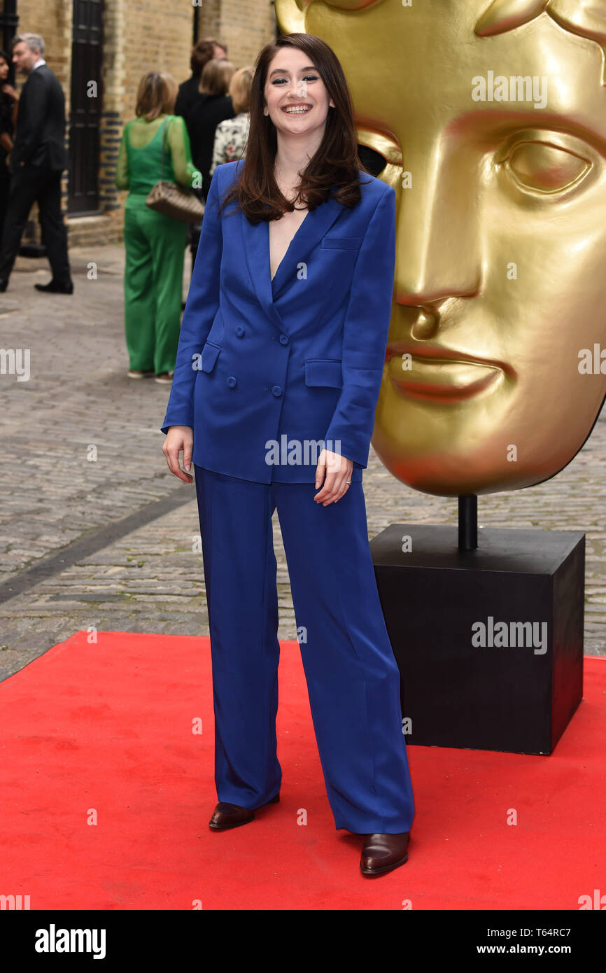 LONDON, UK. April 28, 2019: Charly Clive at the BAFTA Craft Awards 2019, The Brewery, London. Picture: Steve Vas/Featureflash Stock Photo