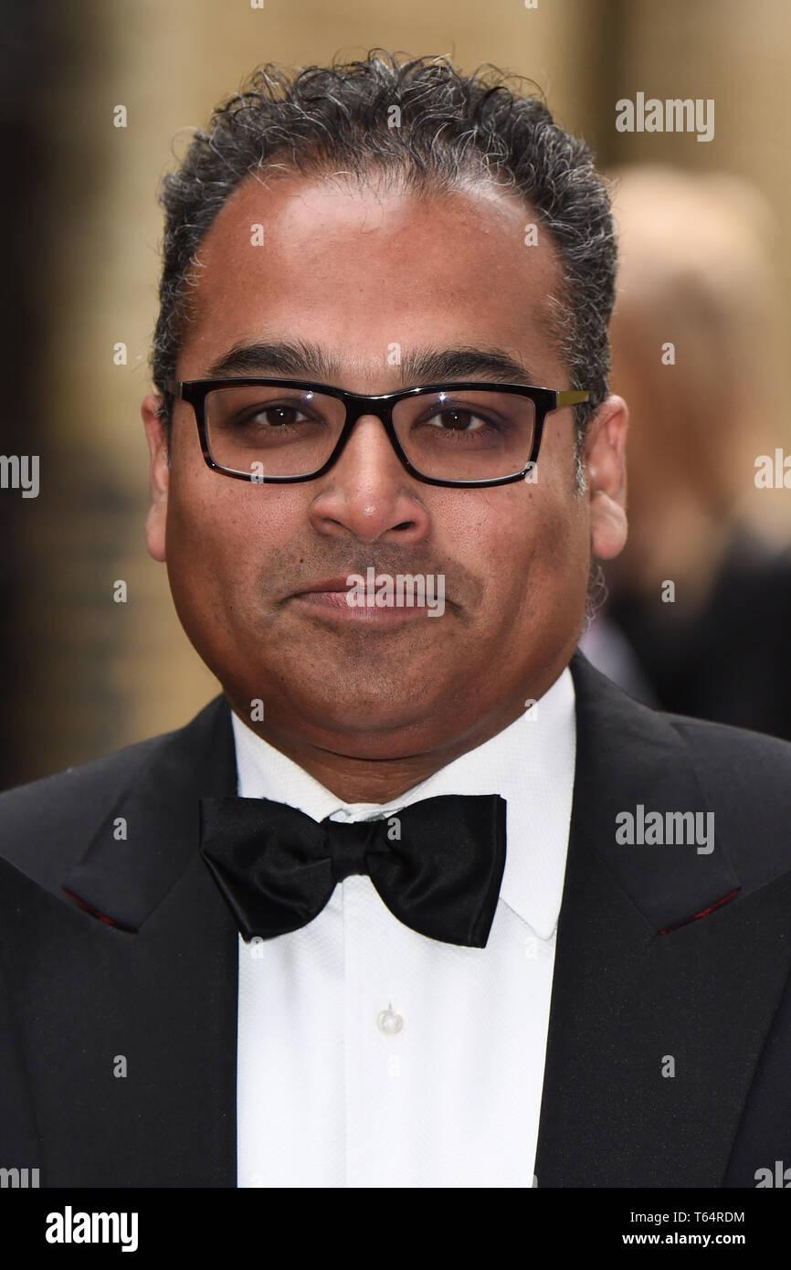 LONDON, UK. April 28, 2019: Krishnan Guru Murphy at the BAFTA Craft Awards 2019, The Brewery, London. Picture: Steve Vas/Featureflash Stock Photo