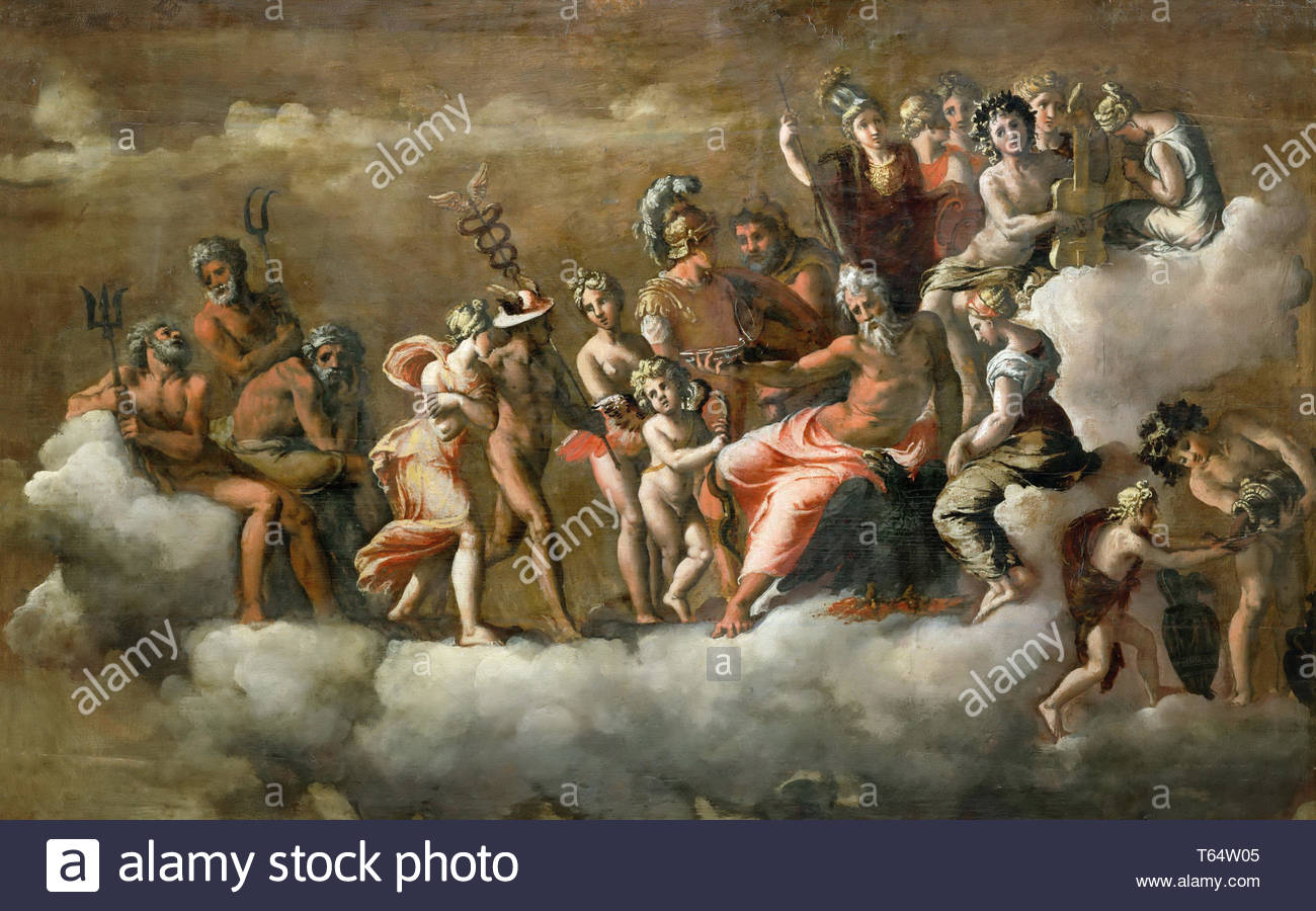 Polidoro da Caravaggio(1497-1543)-Psyche Received - Stock Image