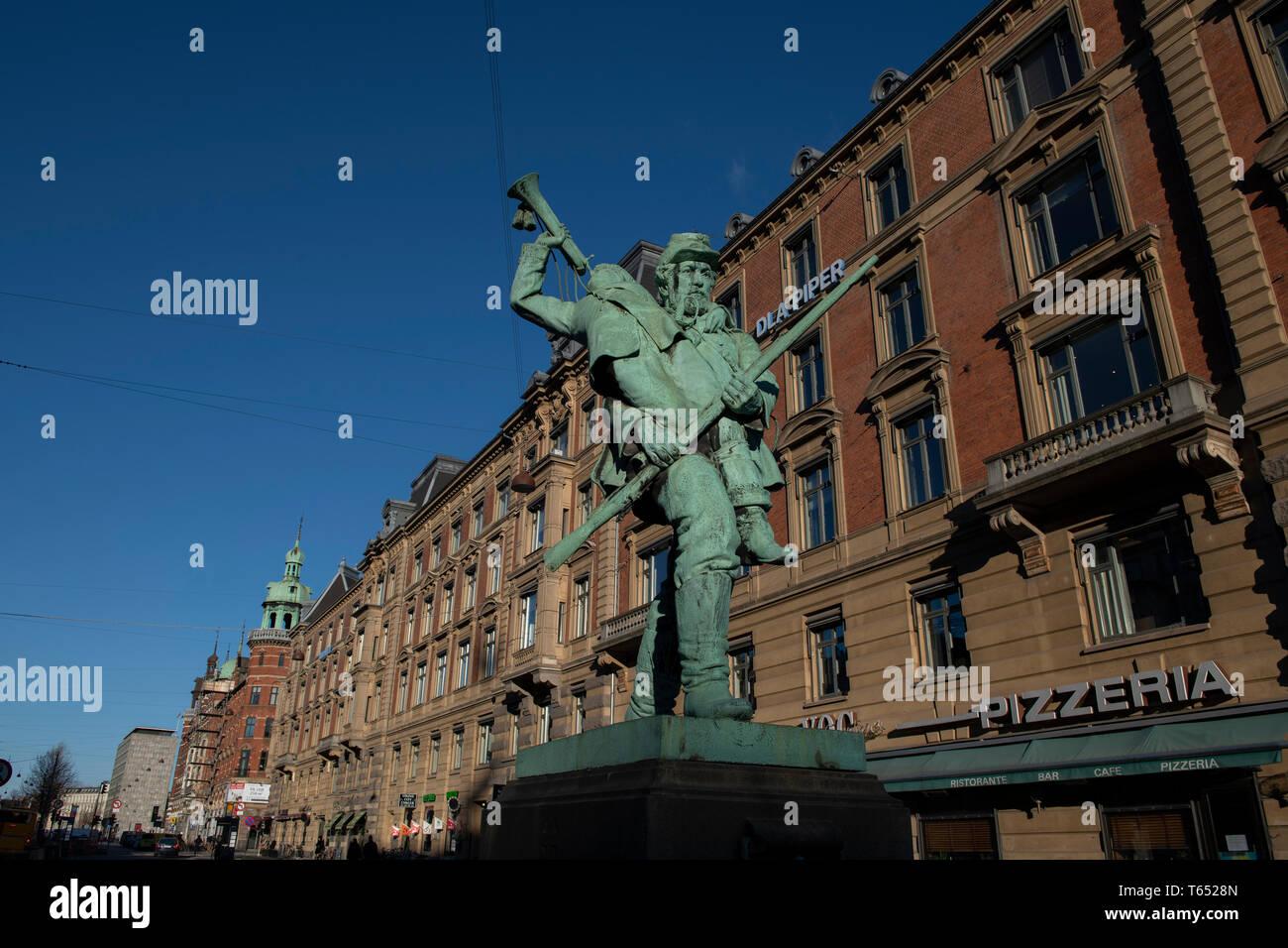 Little Hornblower Den Lille Hornblaeser Statue 19th Century