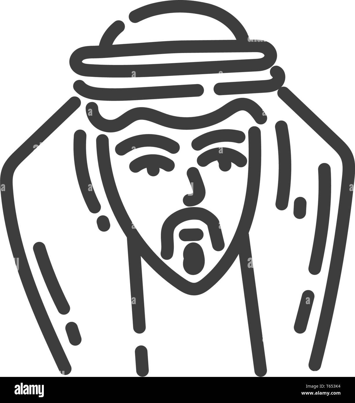 5f7c265e7acf5 Vector Saudi Arab Man Cartoon Black and White Stock Photos & Images ...