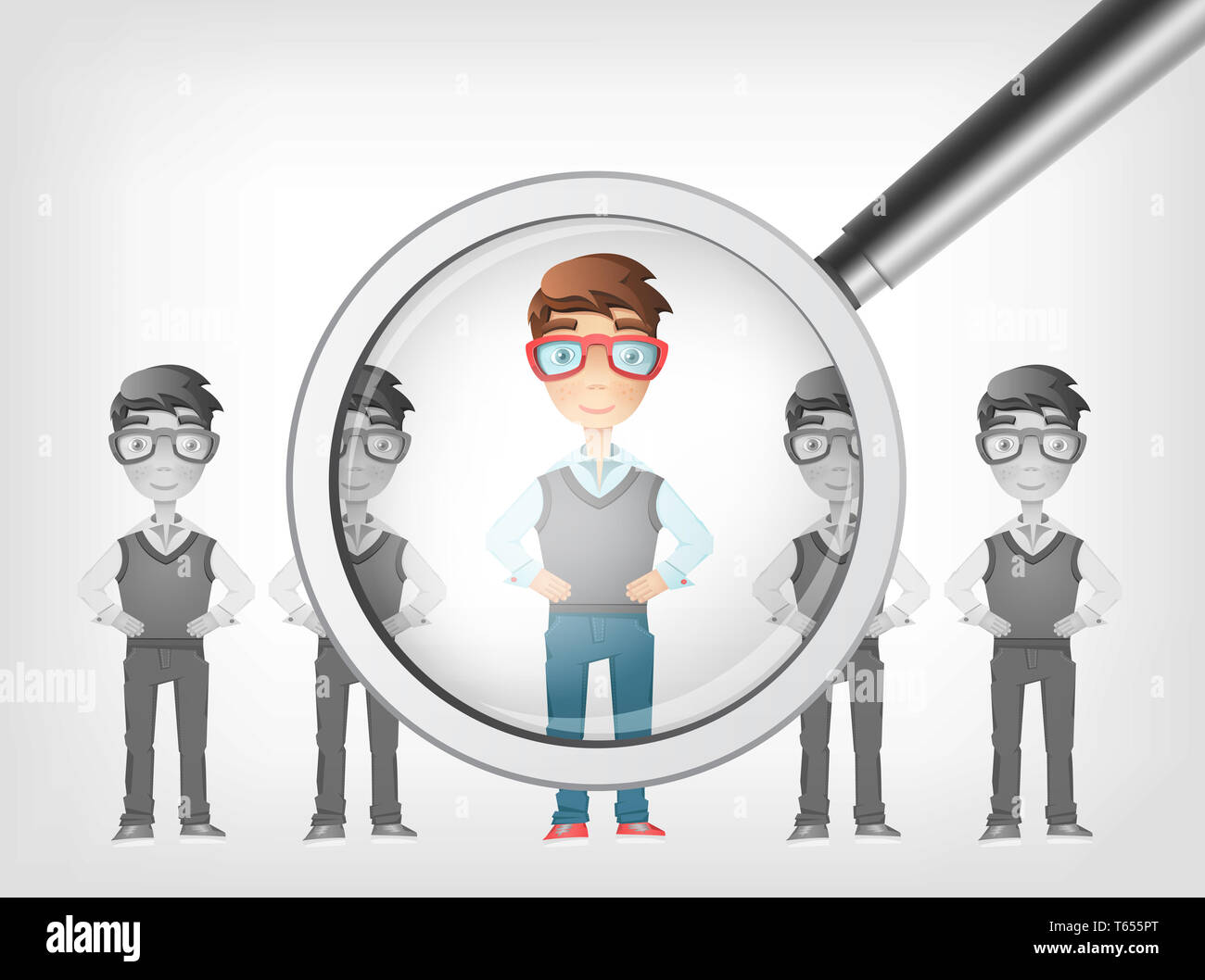 Find Human. Vector EPS 10. - Stock Image