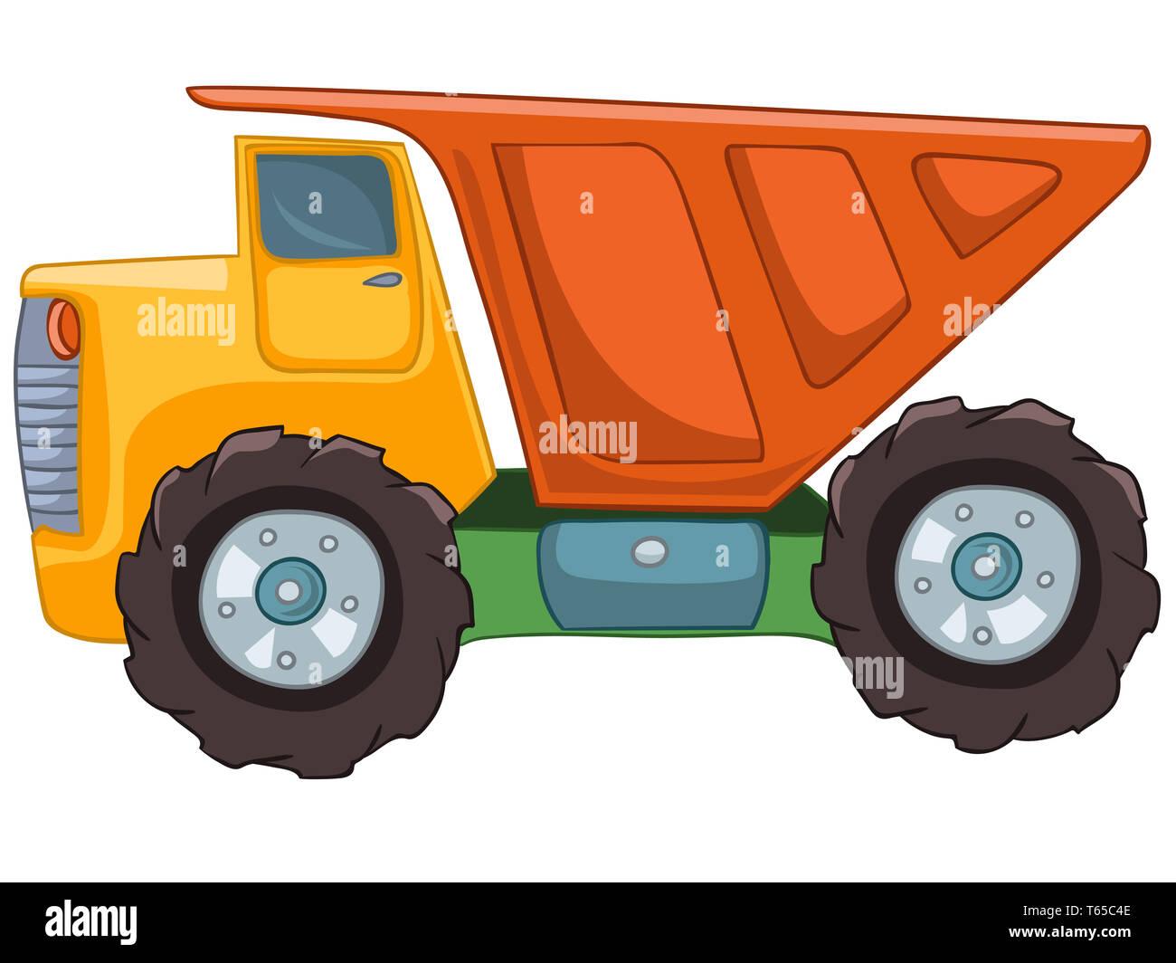 Cartoon Truck Stock Photo Alamy
