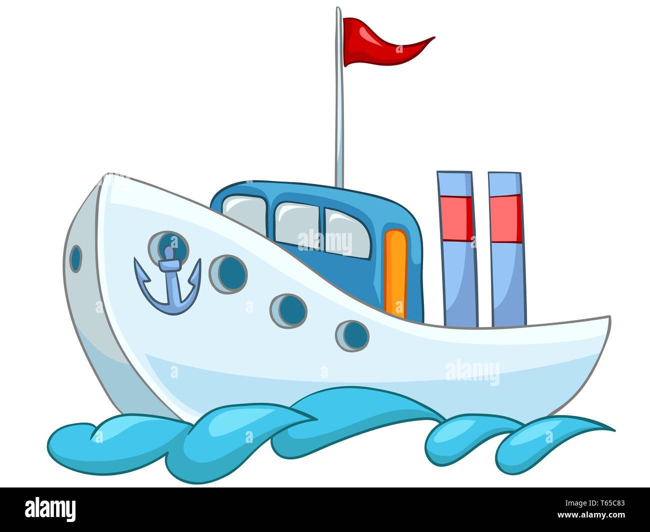 Cartoon Ship - Stock Image
