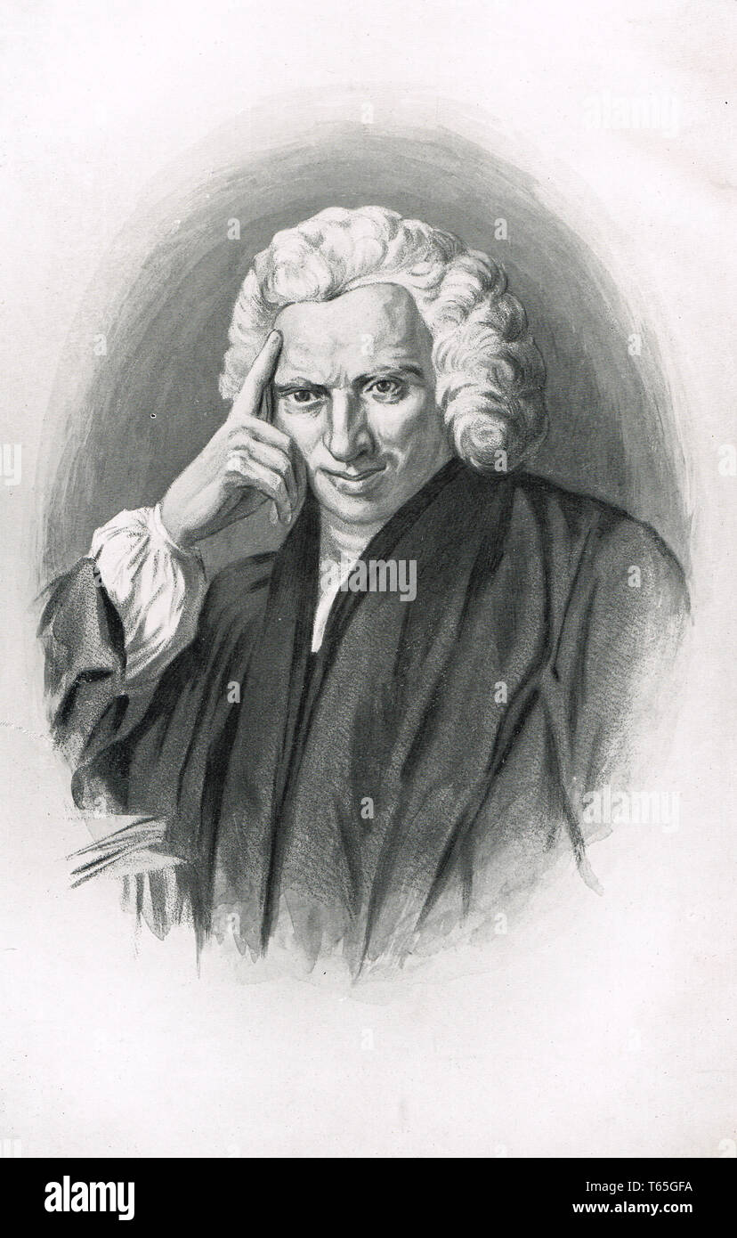Laurence Sterne (24 November 1713 – 18 March 1768)Irish novelist and an Anglican clergyman. author of The Life and Opinions of Tristram Shandy, Gentleman - Stock Image